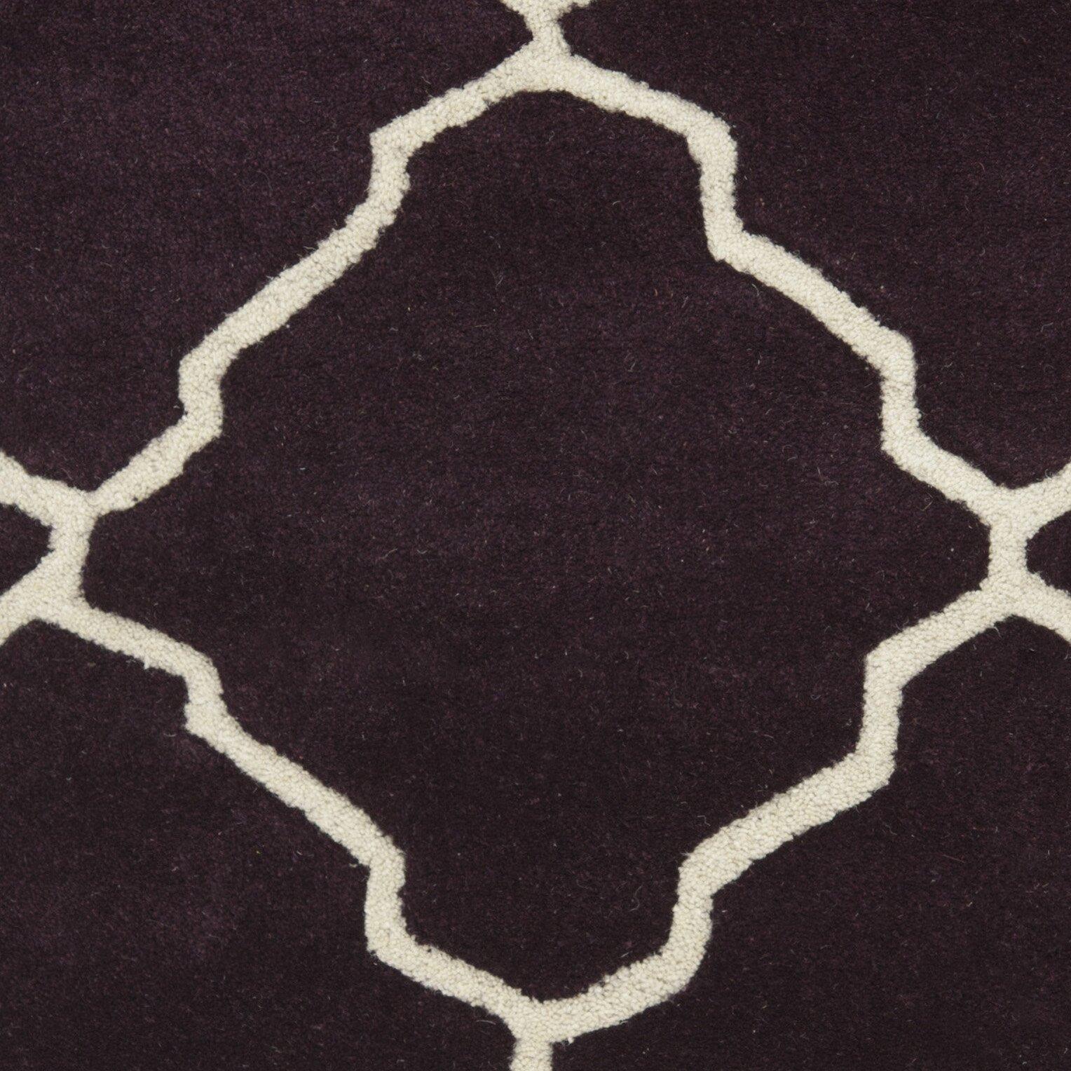 Dark Purple Rugs: Chatham Dark Purple Moroccan Rug