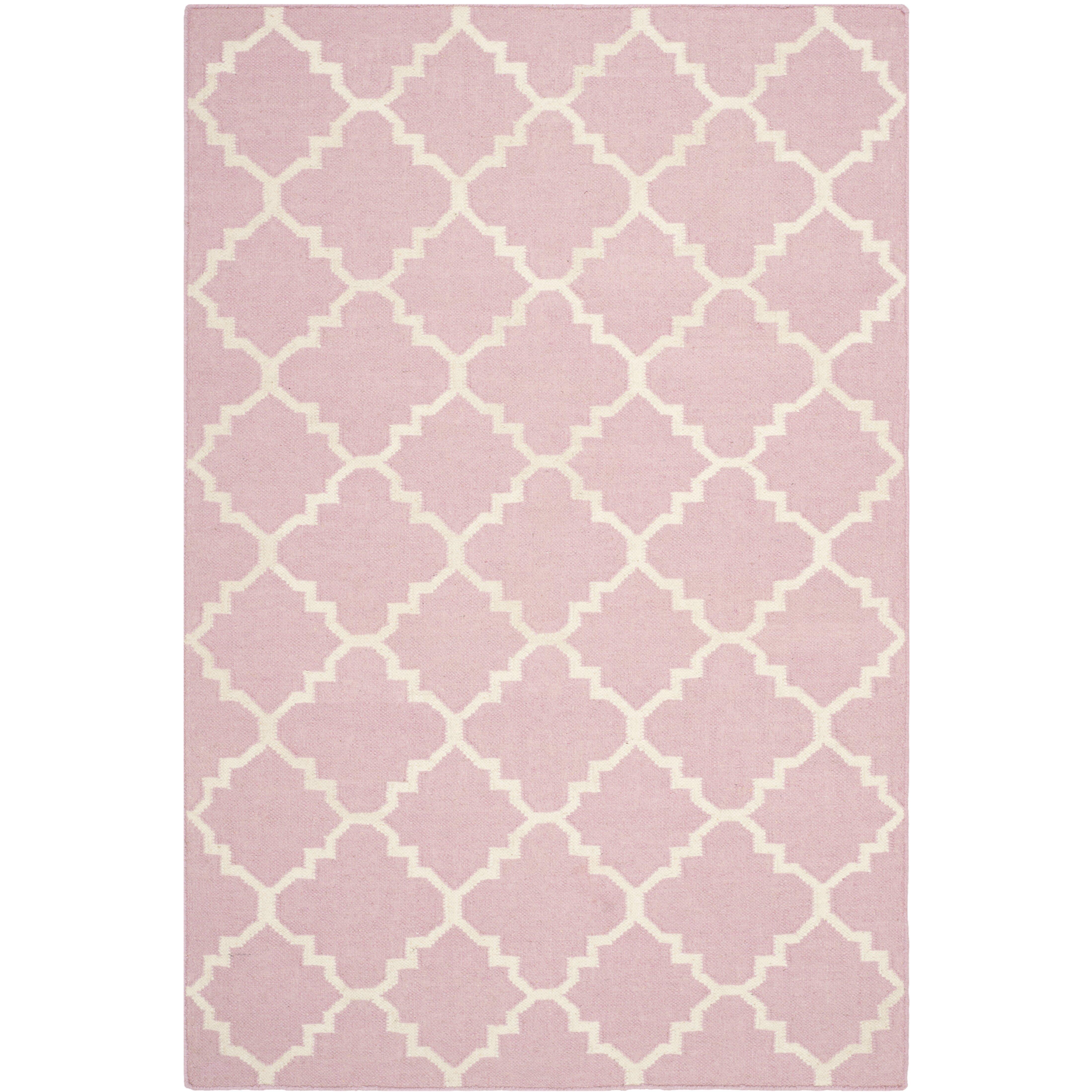 Safavieh Dhurries Pink Ivory Area Rug Amp Reviews Wayfair