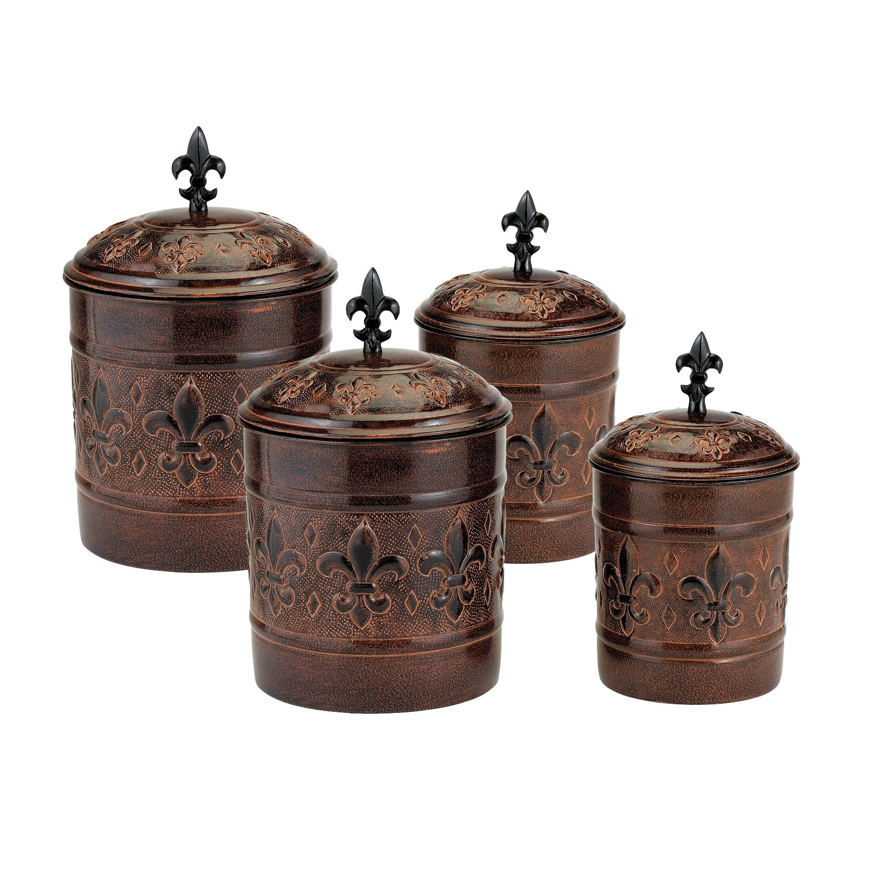 old dutch versailles 4 piece decorative canister set decorative kitchen canisters and jars