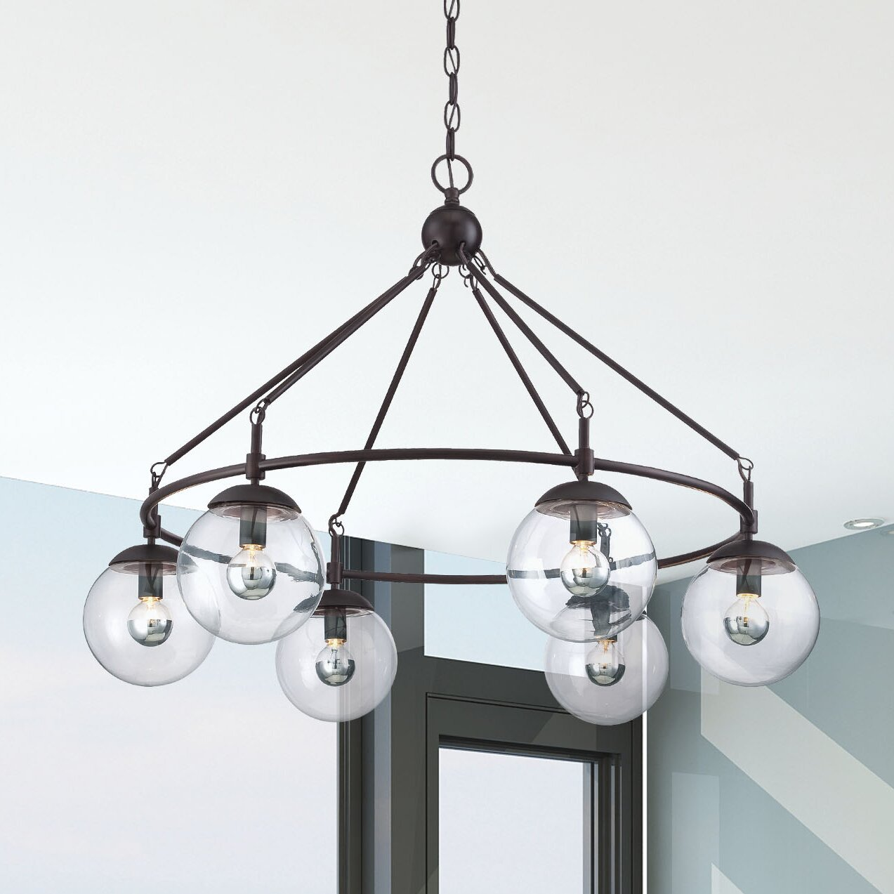 Savoy house argo 6 light chandelier reviews wayfair for Savoy house