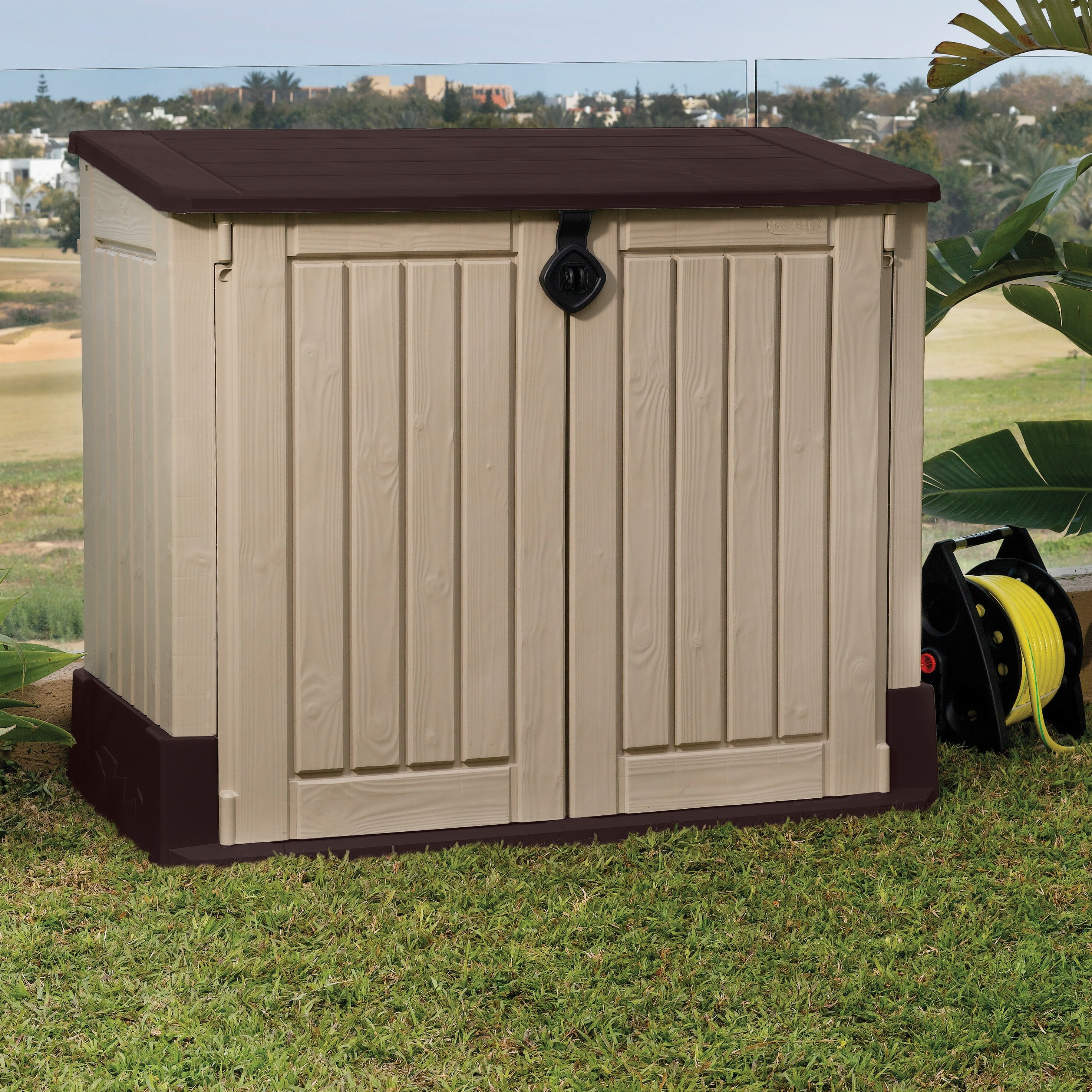 Keter Woodland 4 Ft. W x 2 Ft. D Plastic Garden Shed & Reviews