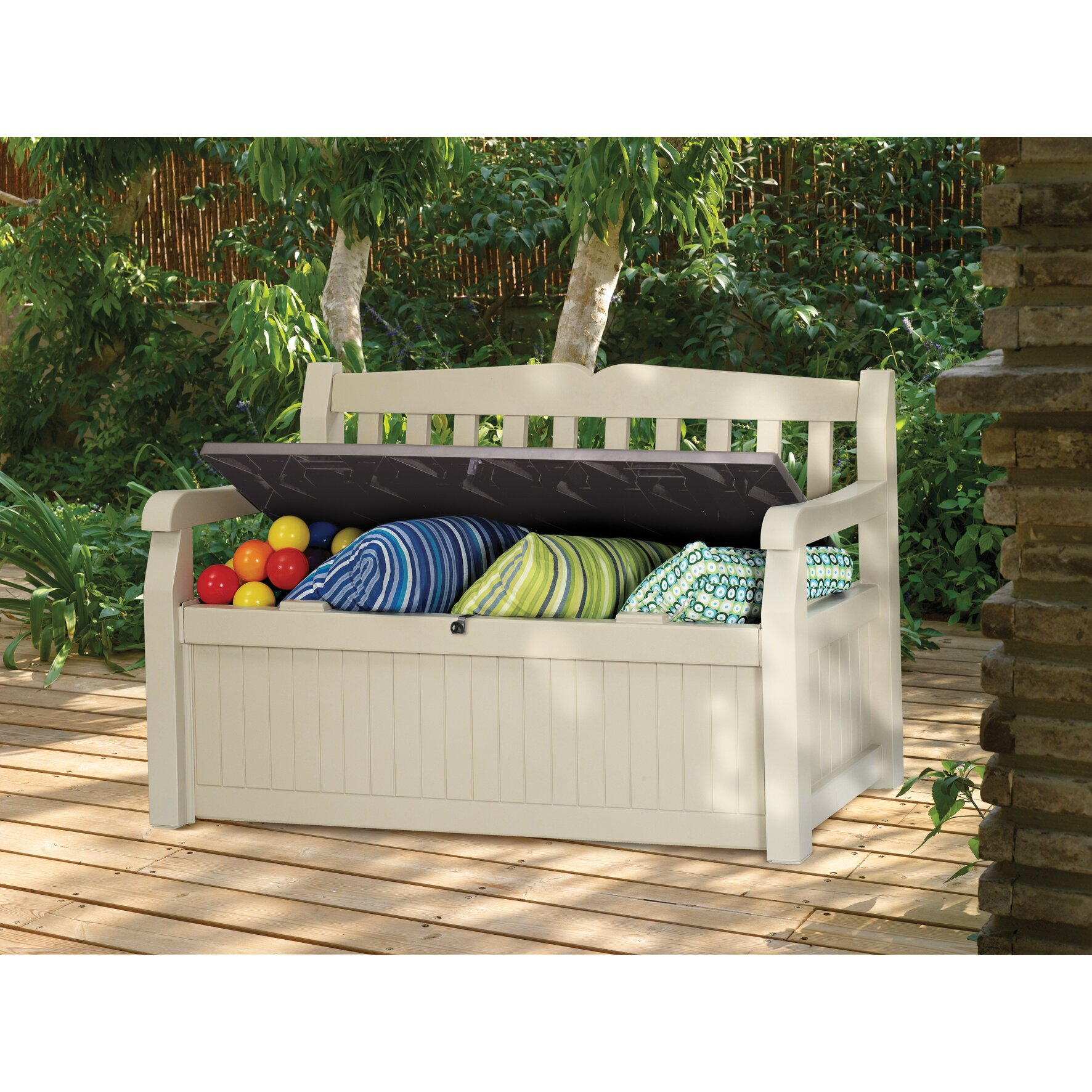 Keter All Weather Outdoor 70 Gallon Storage Bench Reviews Wayfair