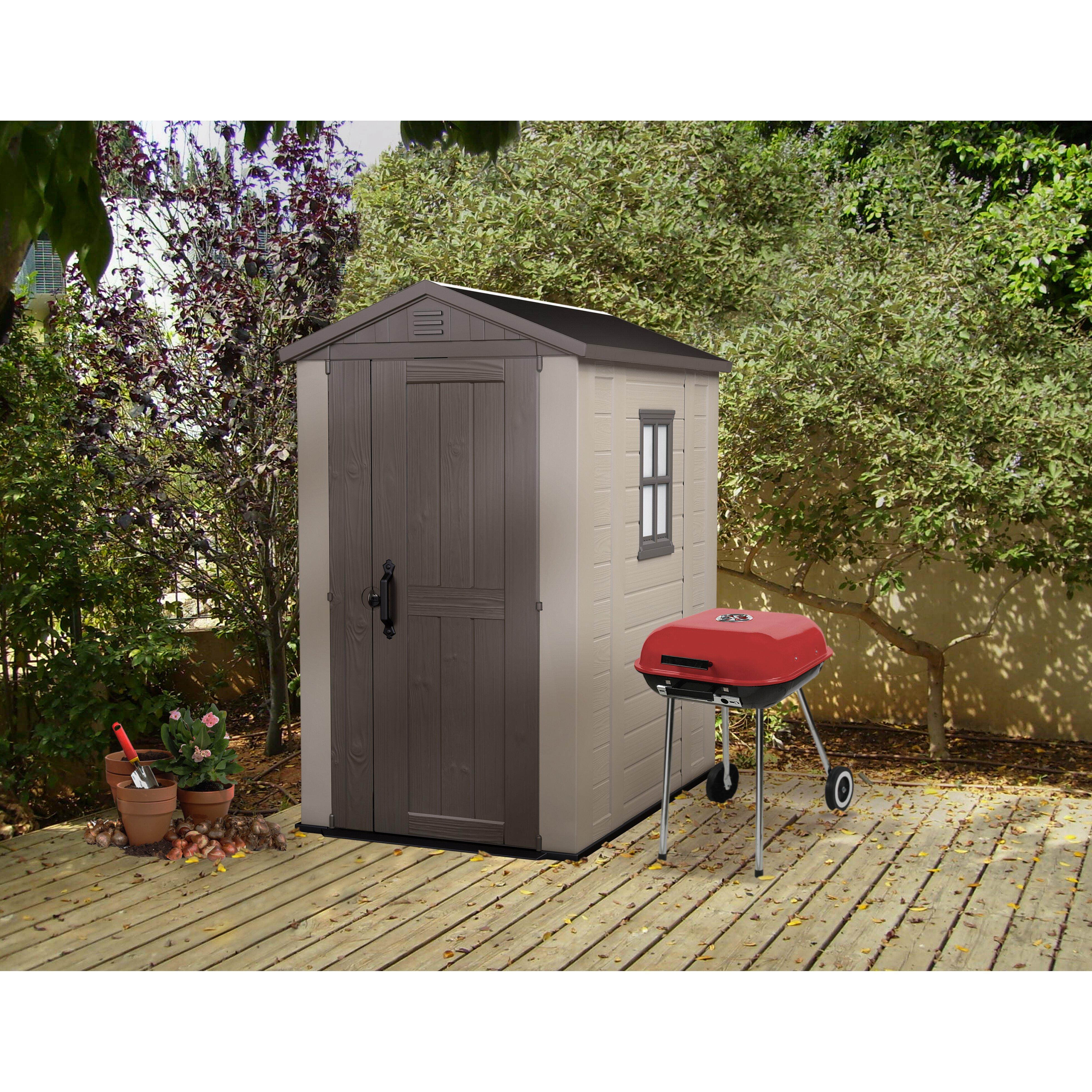 Factor 6 Ft. W X 4 Ft. D Resin Storage Shed