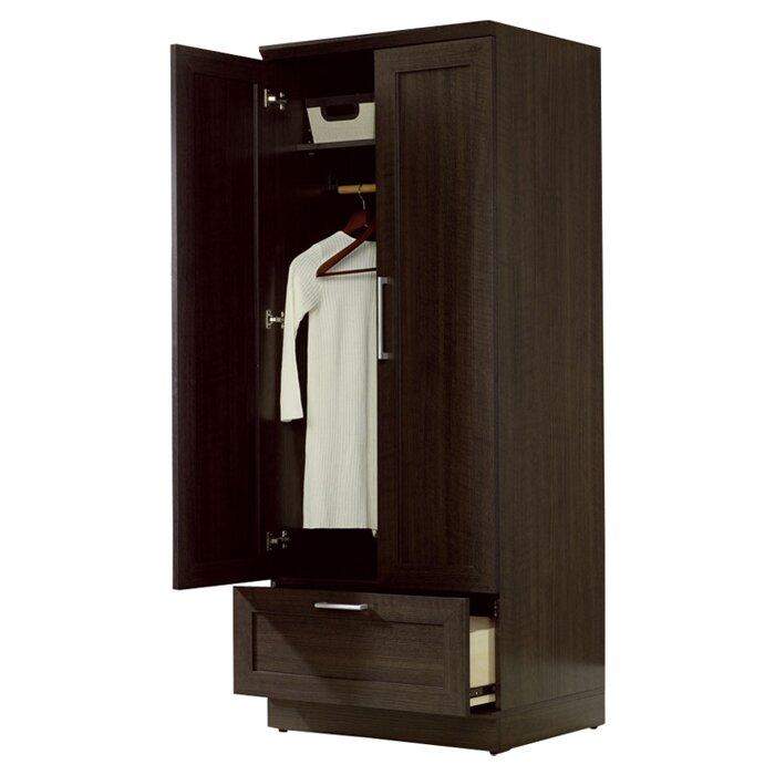 sauder homeplus wardrobe armoire   reviews wayfair