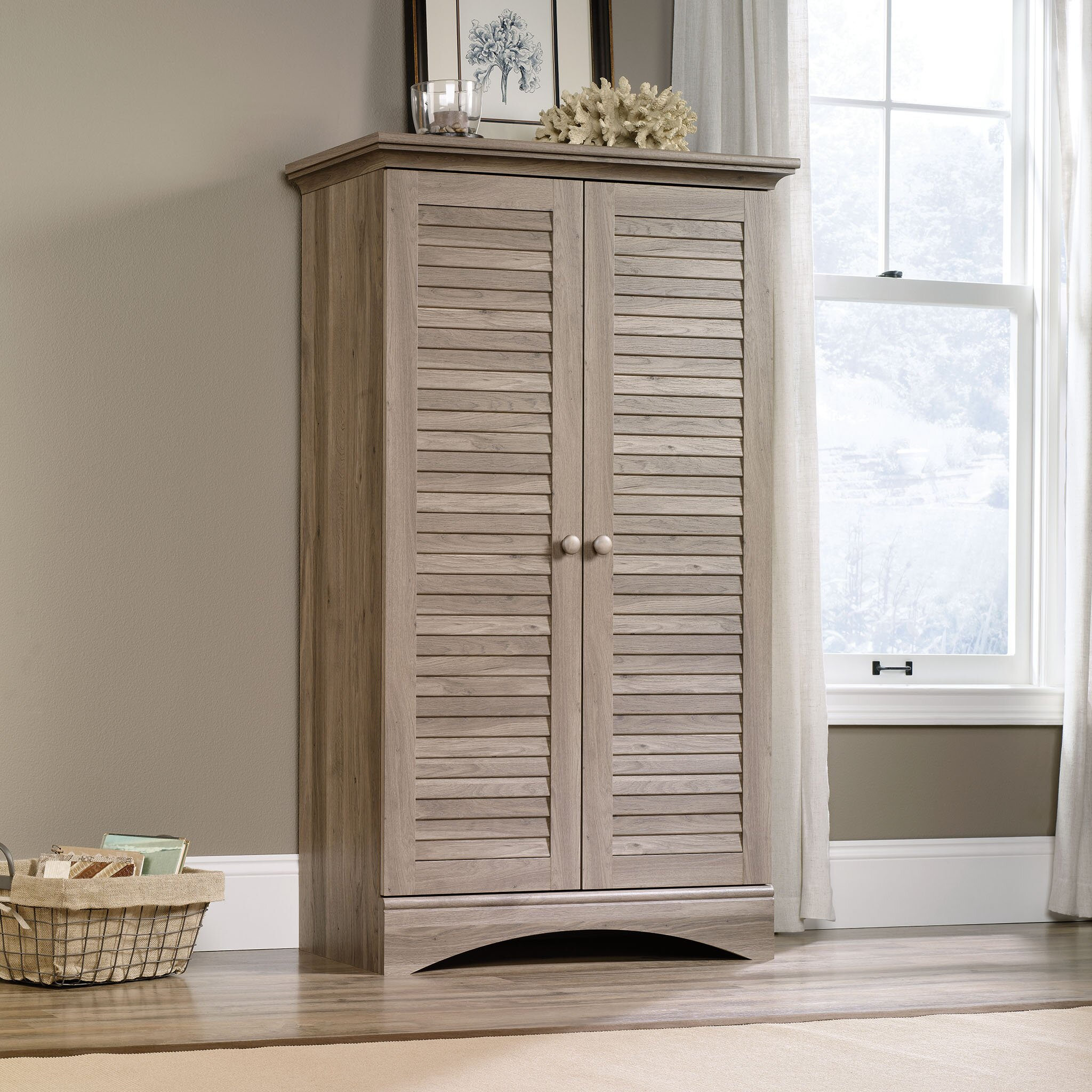 Sauder Harbor View 2 Door Storage Cabinet & Reviews | Wayfair