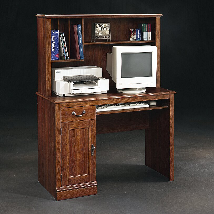 white of sauder computer hutch view office harbor image desk with