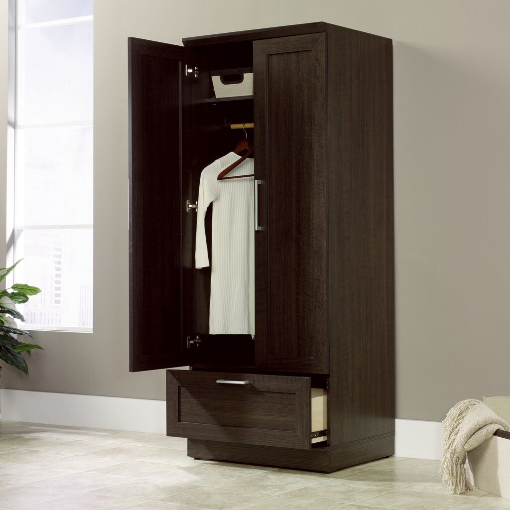 Sauder HomePlus Wardrobe Armoire & Reviews | Wayfair