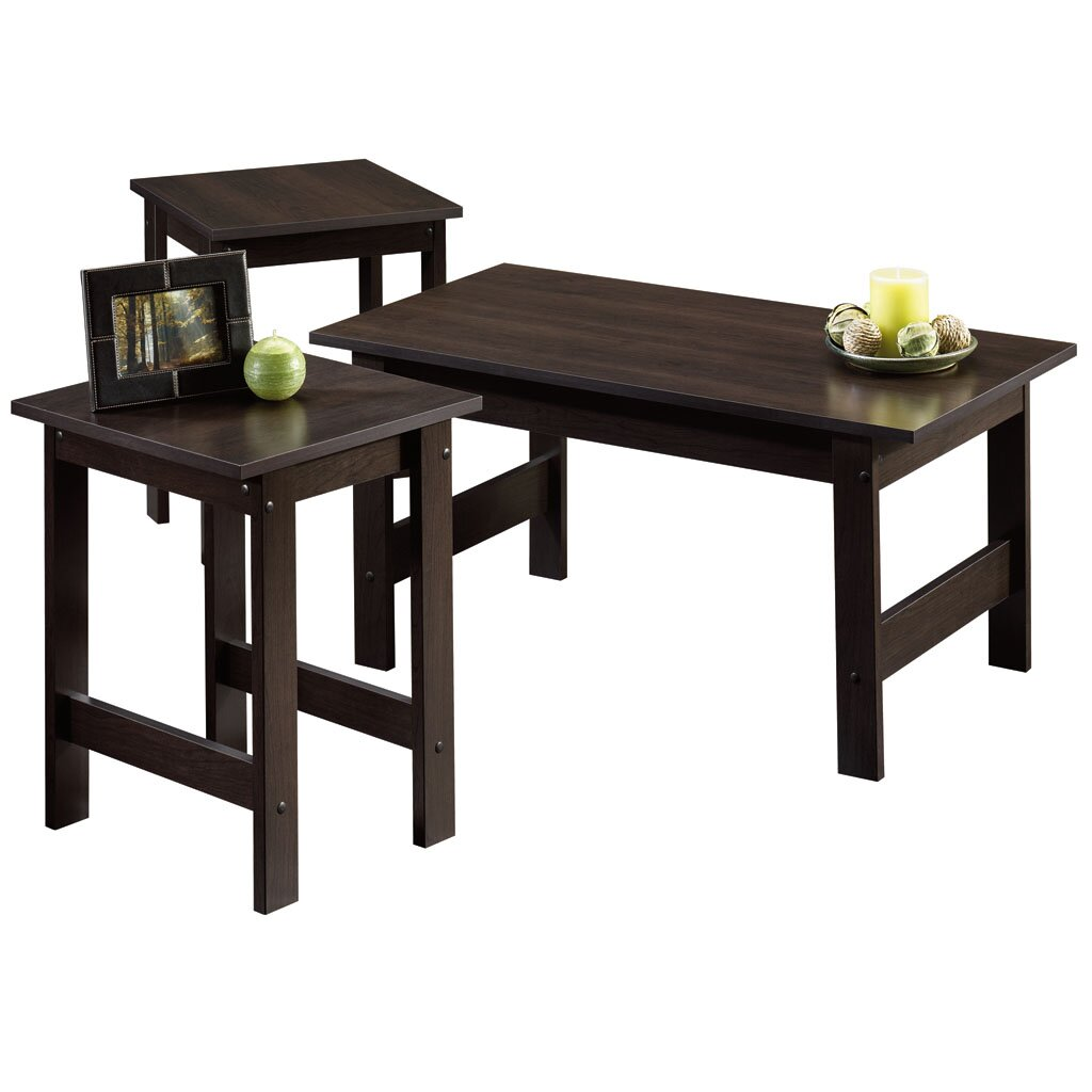 Veropeso 3 Piece Coffee Table Set: Sauder Beginnings 3 Piece Coffee Table Set & Reviews