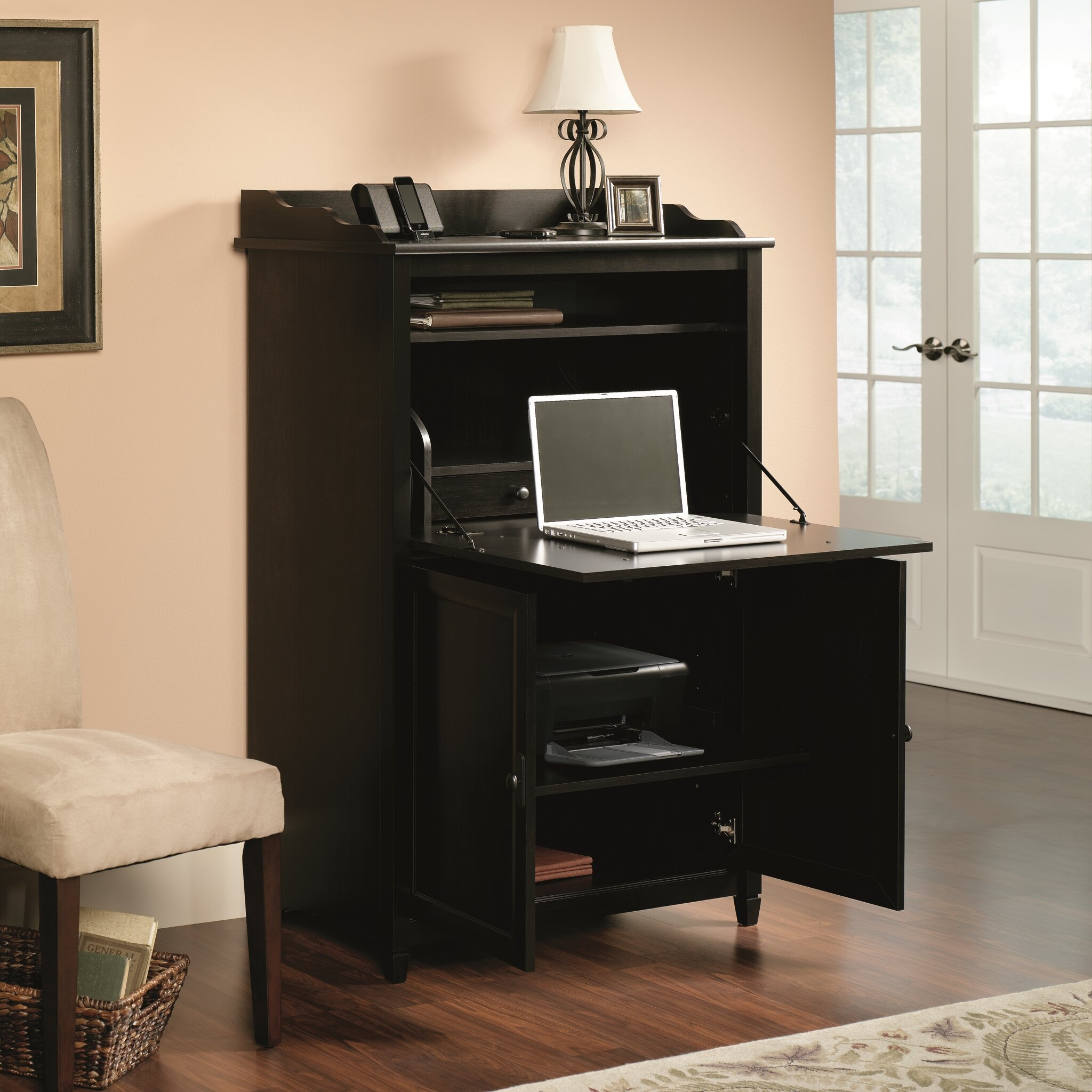Edge Water Armoire Desk Wayfair