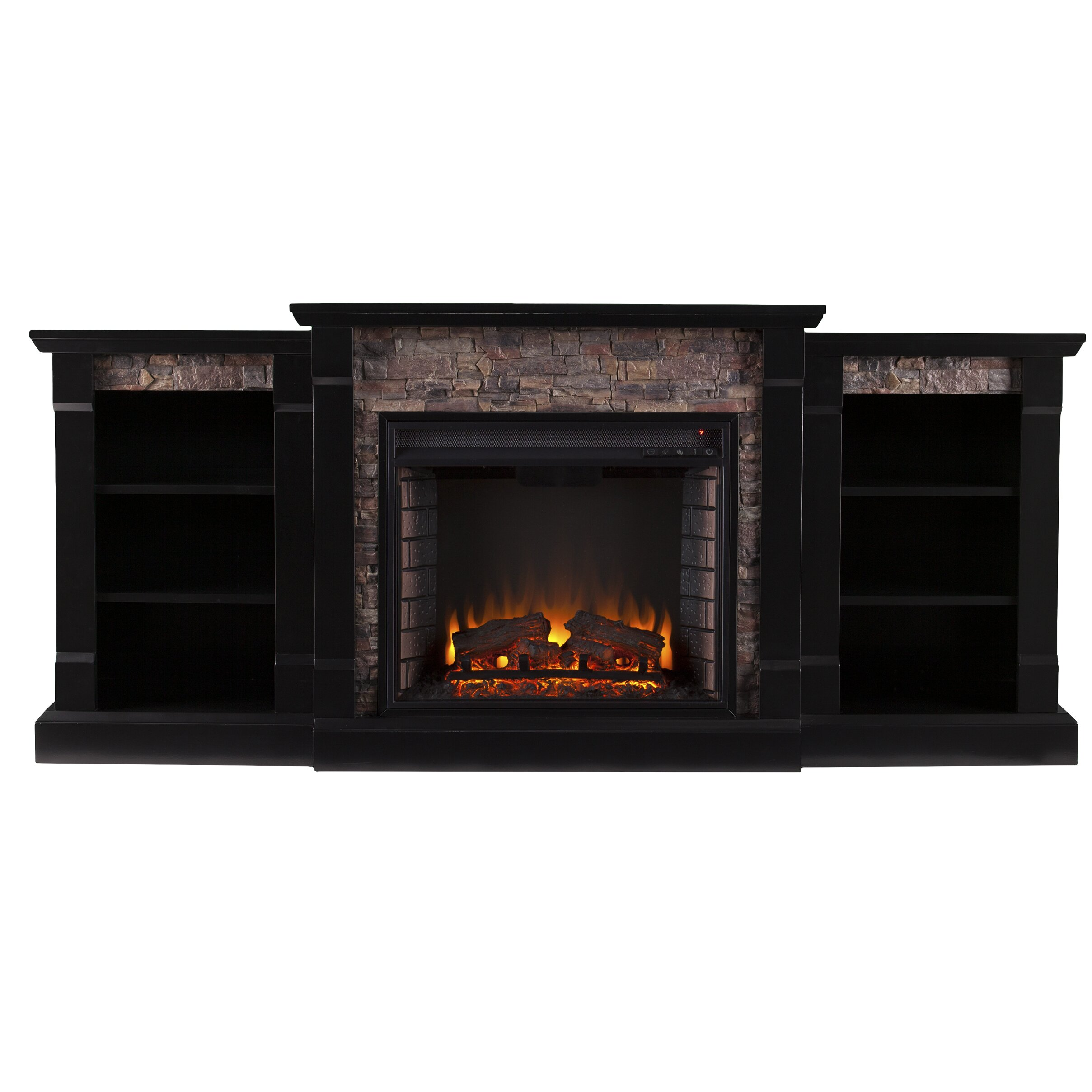 galley faux stone electric fireplace wayfair