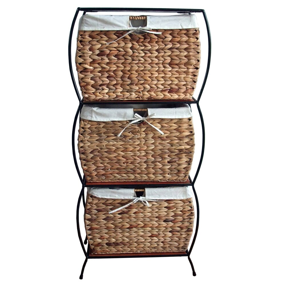 Buy Wicker Storage Basket Kitchen Drawer Style From The: Pangaea Seagrass Basket Storage Pangaea Rattan 3 Drawer