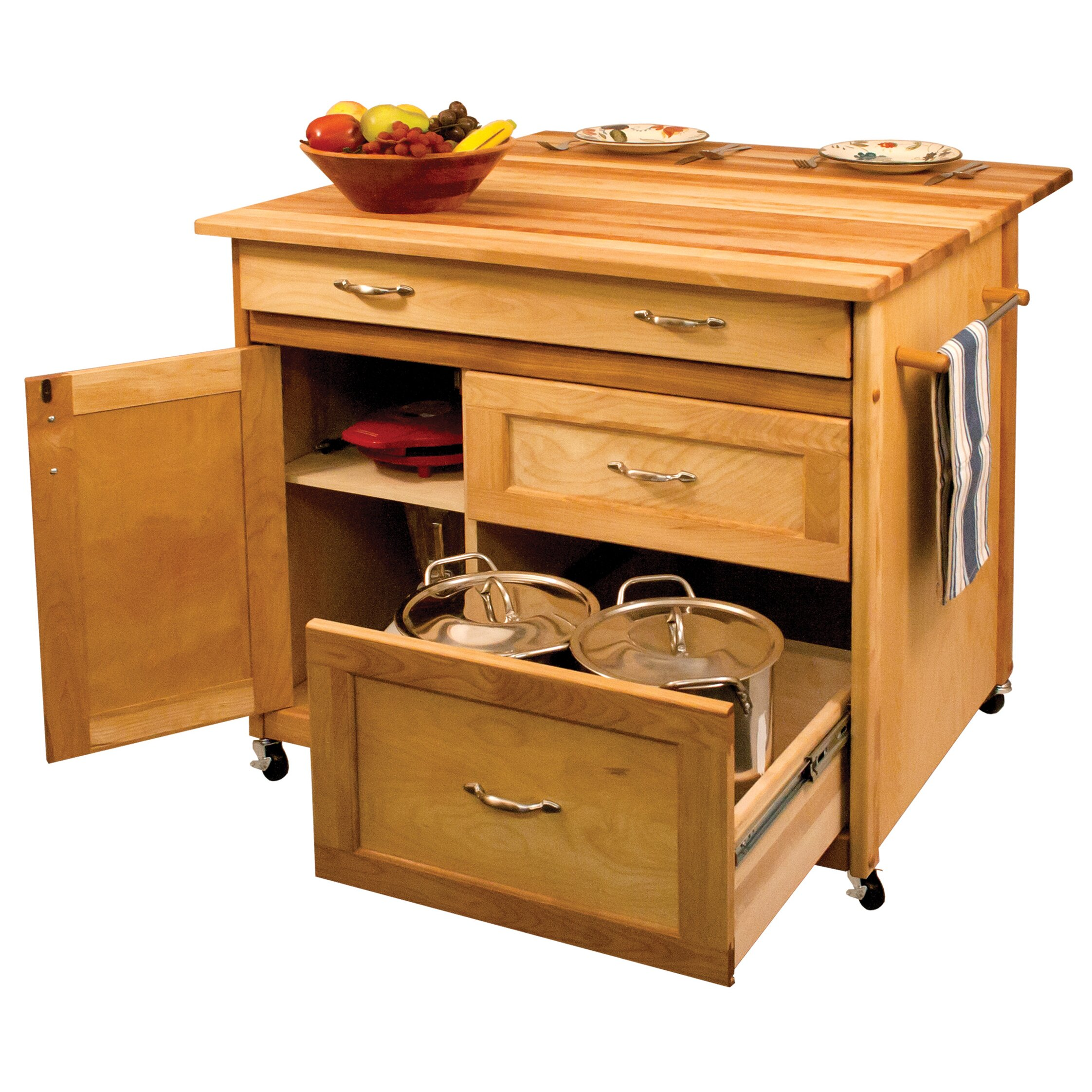 Catskill Craftsmen Kitchen Island With Butcher Block Top : Catskill Craftsmen Kitchen Island with Butcher Block Top & Reviews Wayfair