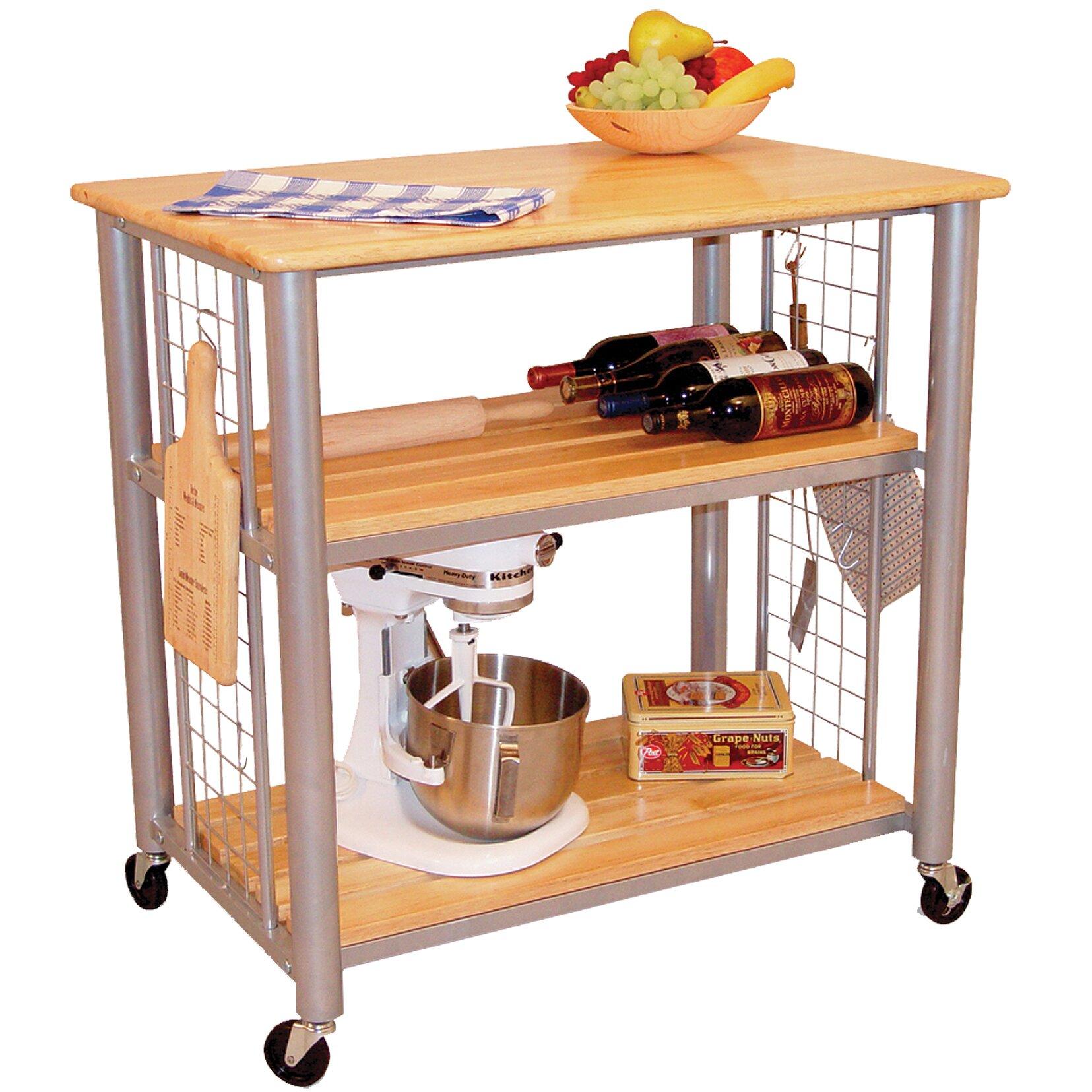 Kitchen Cart Butcher Block Top : Contemporary Kitchen Cart with Butcher Block Top Wayfair