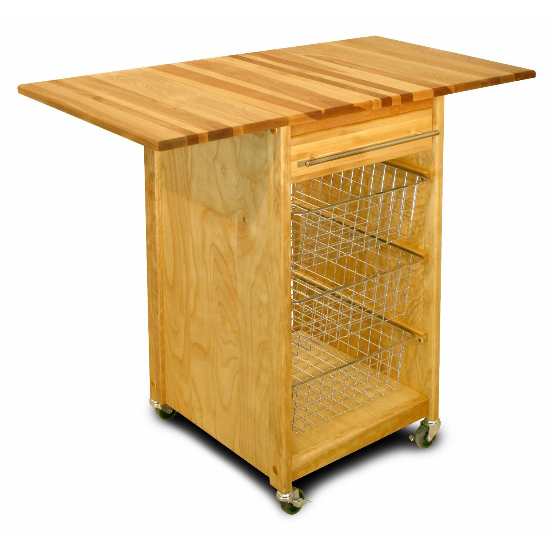 Kitchen Cart Butcher Block Top : Catskill Craftsmen Kitchen Cart with Butcher Block Top & Reviews Wayfair