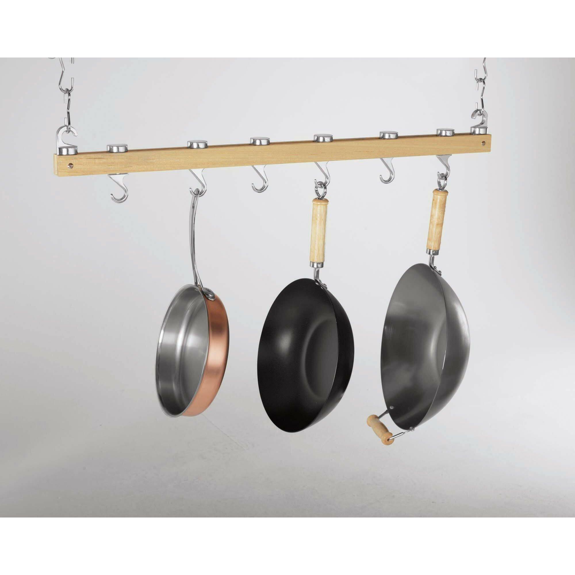 Concept Housewares Ceiling Mounted Pot Rack & Reviews ...