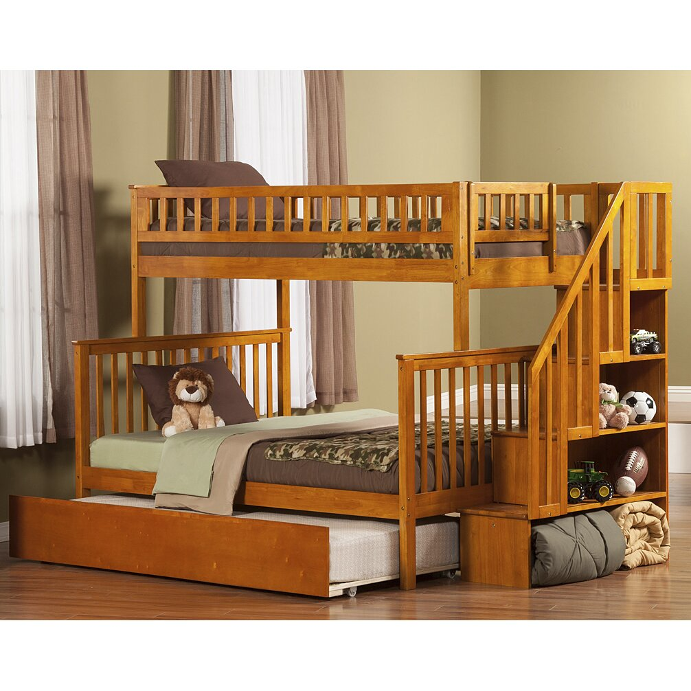 Atlantic Furniture Woodland Twin Over Full With Twin