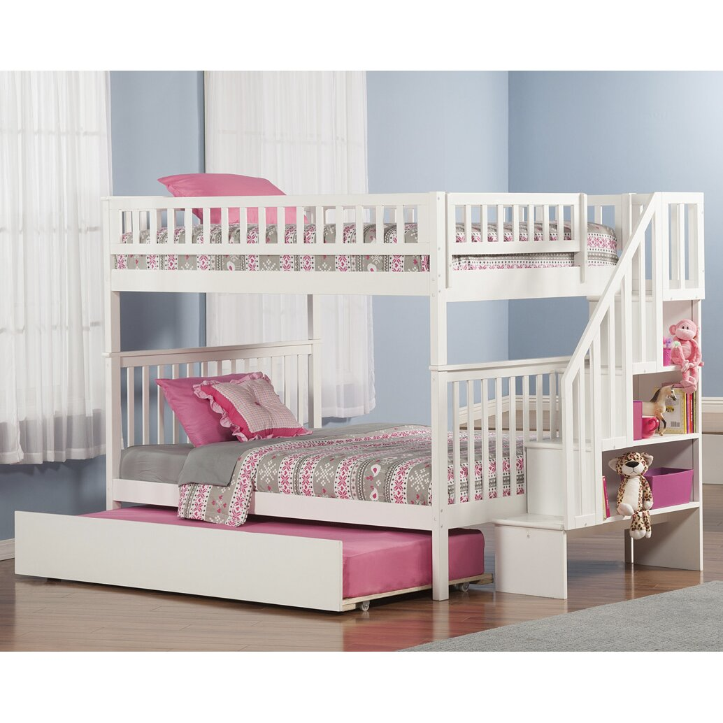 Woodland Full Over Full Bunk Bed With Trundle Wayfair