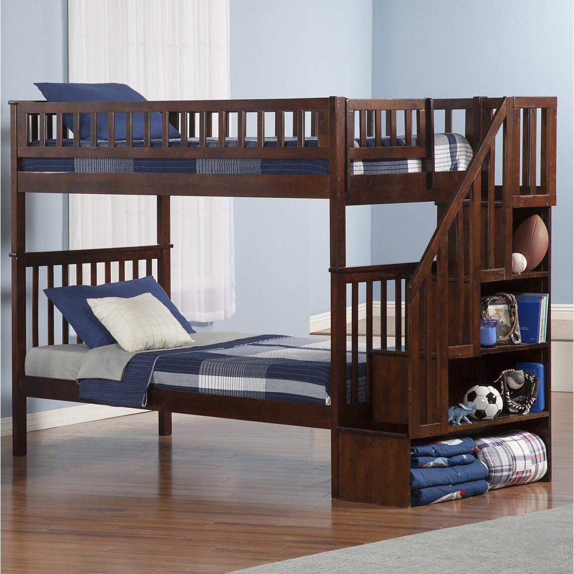 atlantic furniture woodland twin bunk bed reviews wayfair. Black Bedroom Furniture Sets. Home Design Ideas