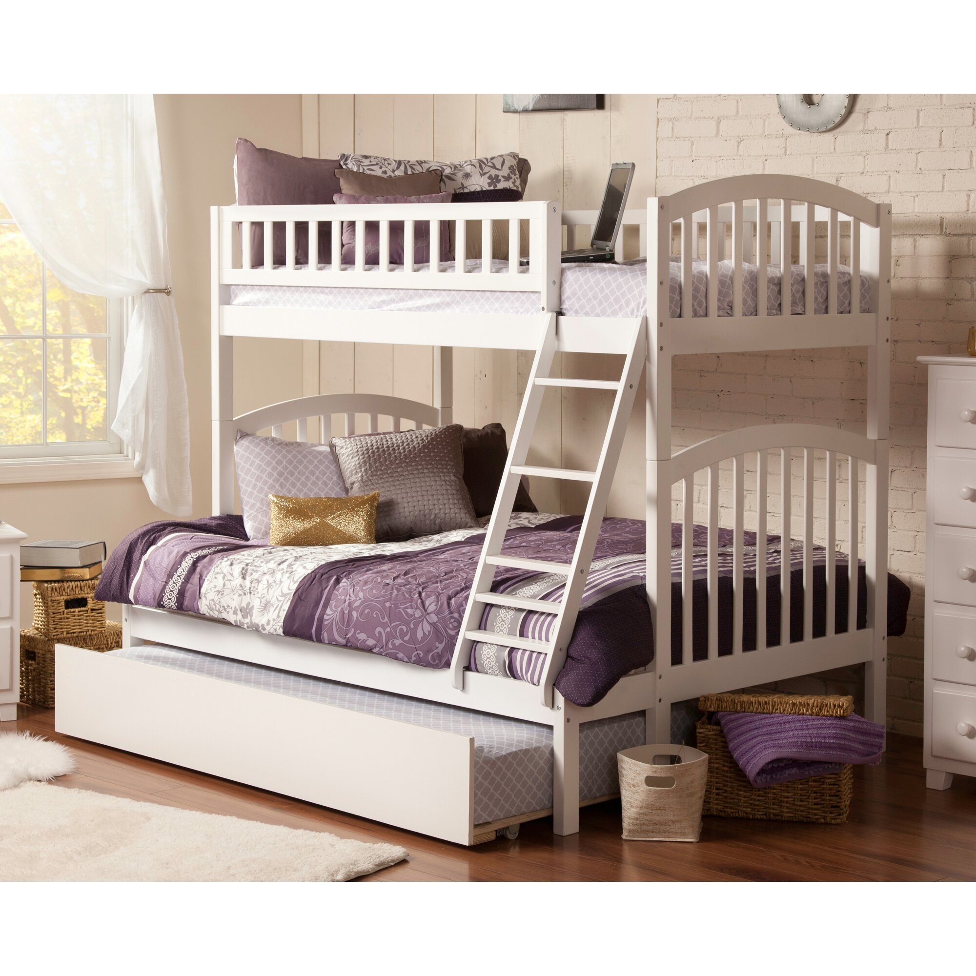 atlantic furniture richland twin over full bunk bed reviews wayfair. Black Bedroom Furniture Sets. Home Design Ideas