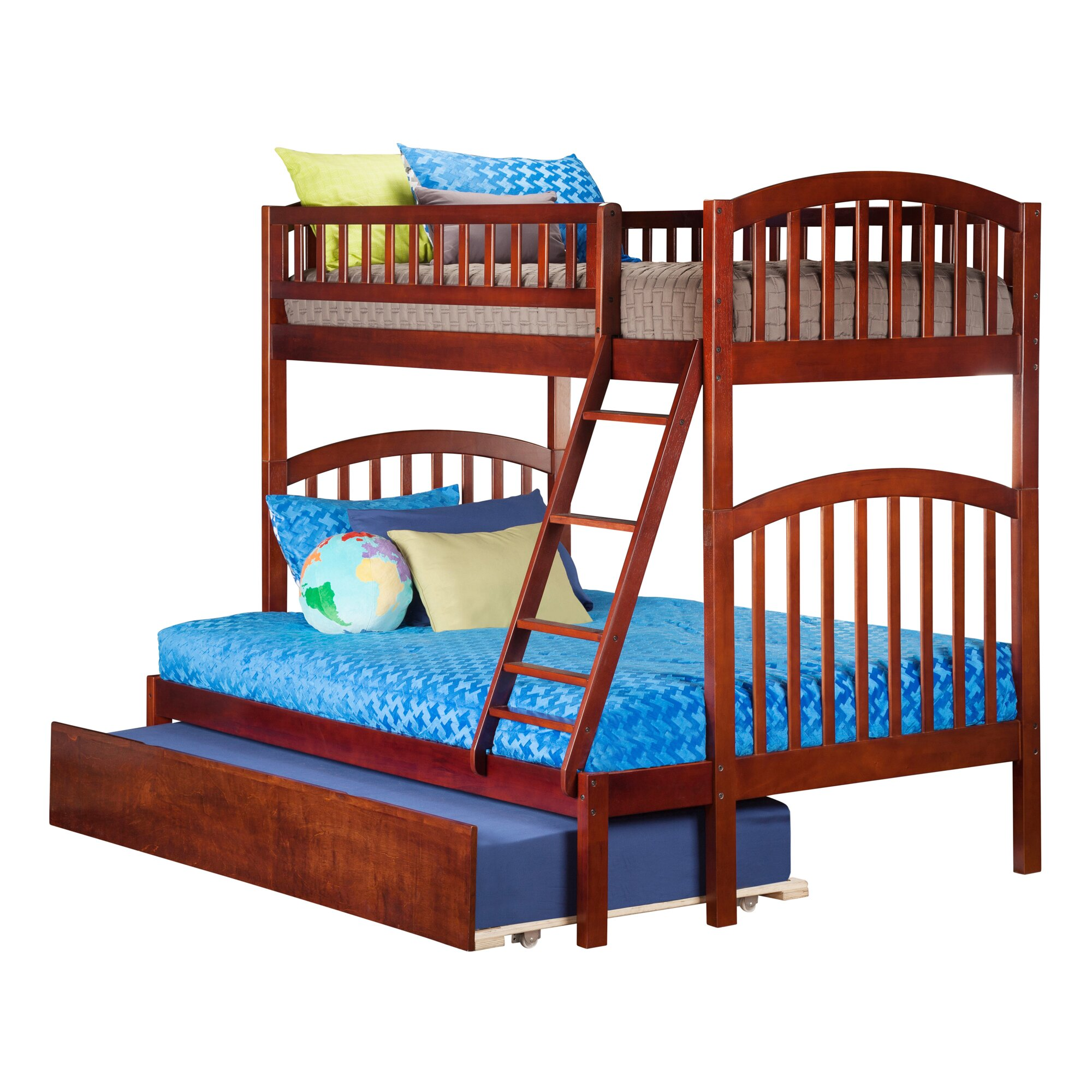 Loft Bed: Atlantic Furniture Richland Twin Over Full Bunk Bed