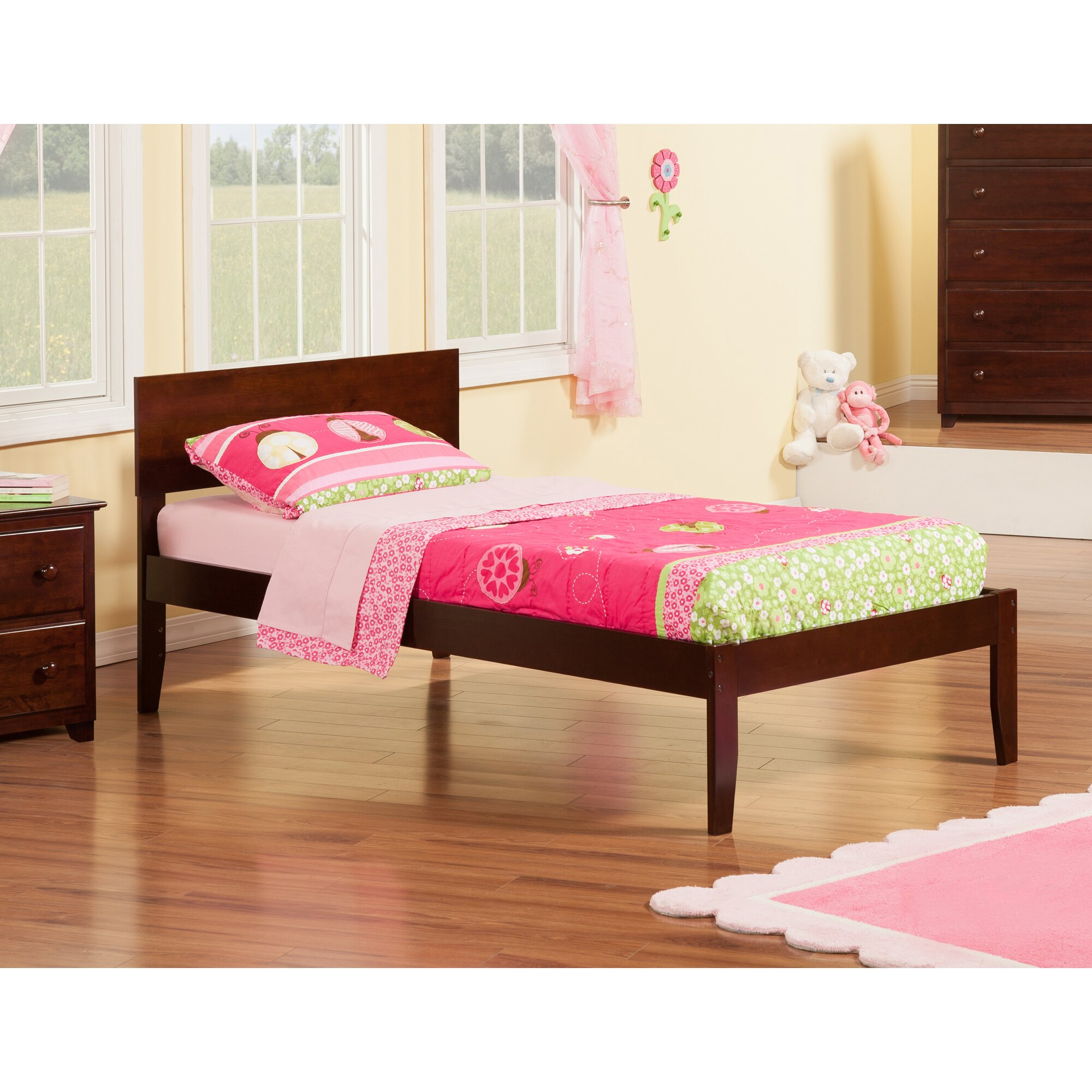 Atlantic Furniture Orlando Extra Long Twin Panel Bed Reviews Wayfair