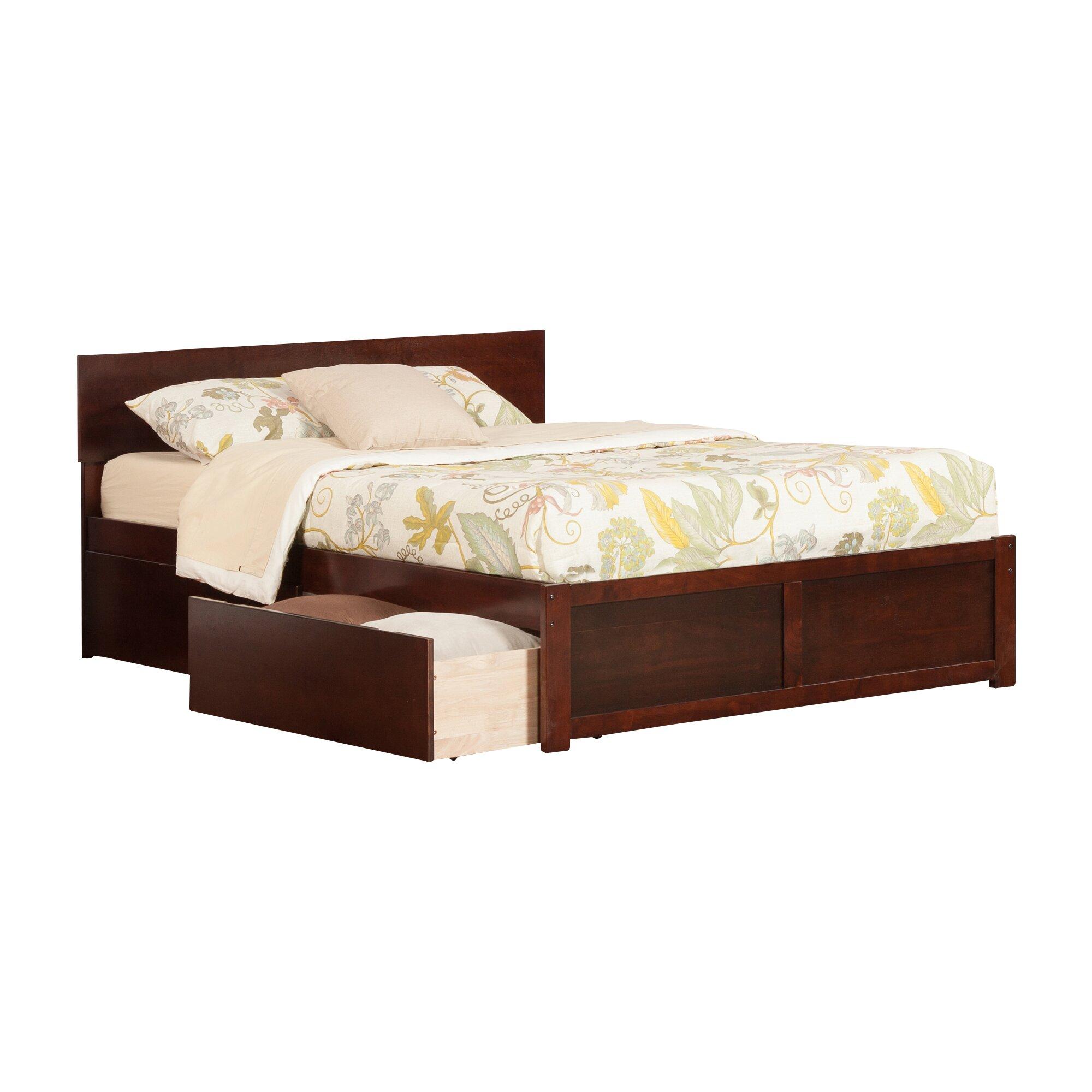 Atlantic Furniture Orlando King Storage Platform Bed ...