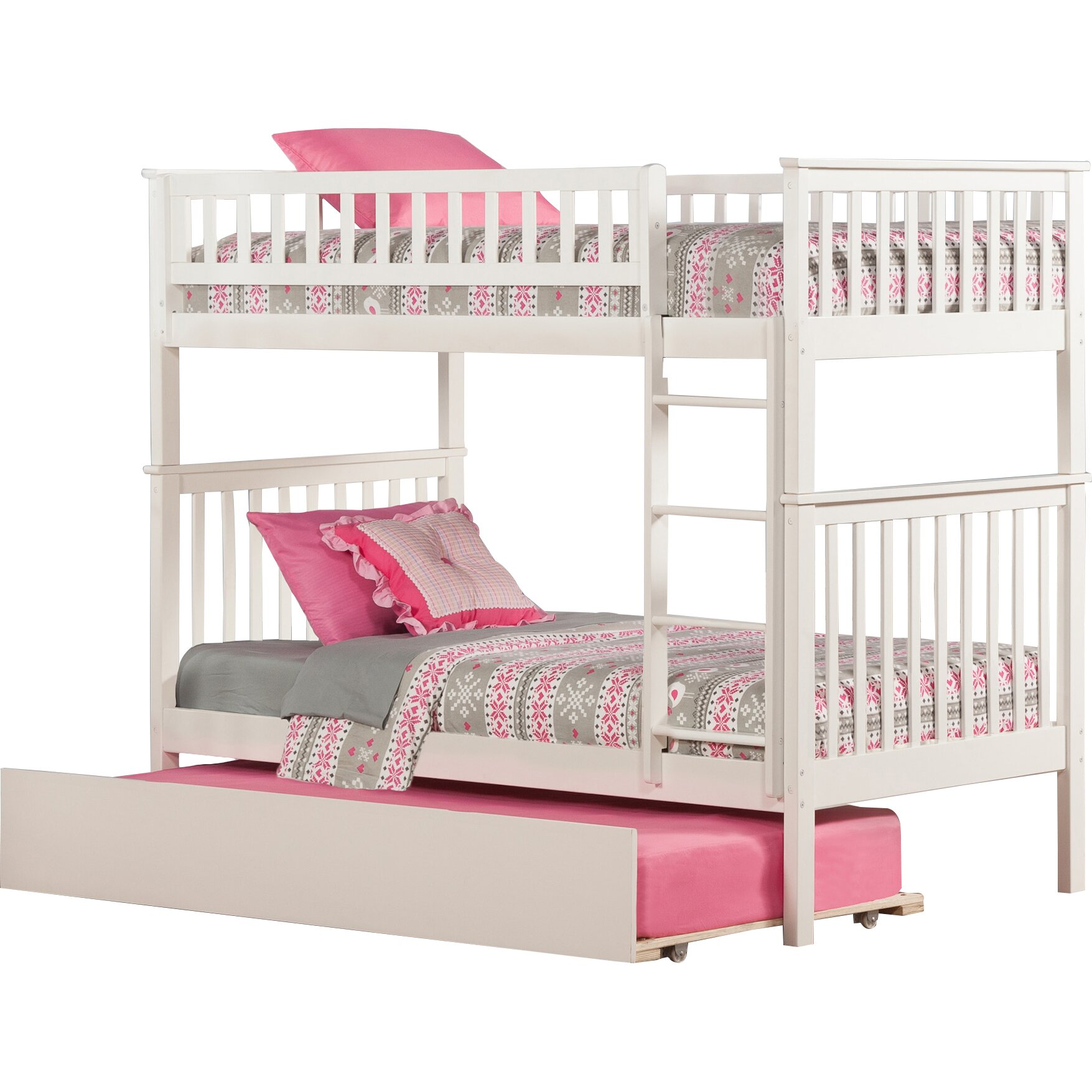 atlantic furniture woodland twin over twin bunk bed with. Black Bedroom Furniture Sets. Home Design Ideas