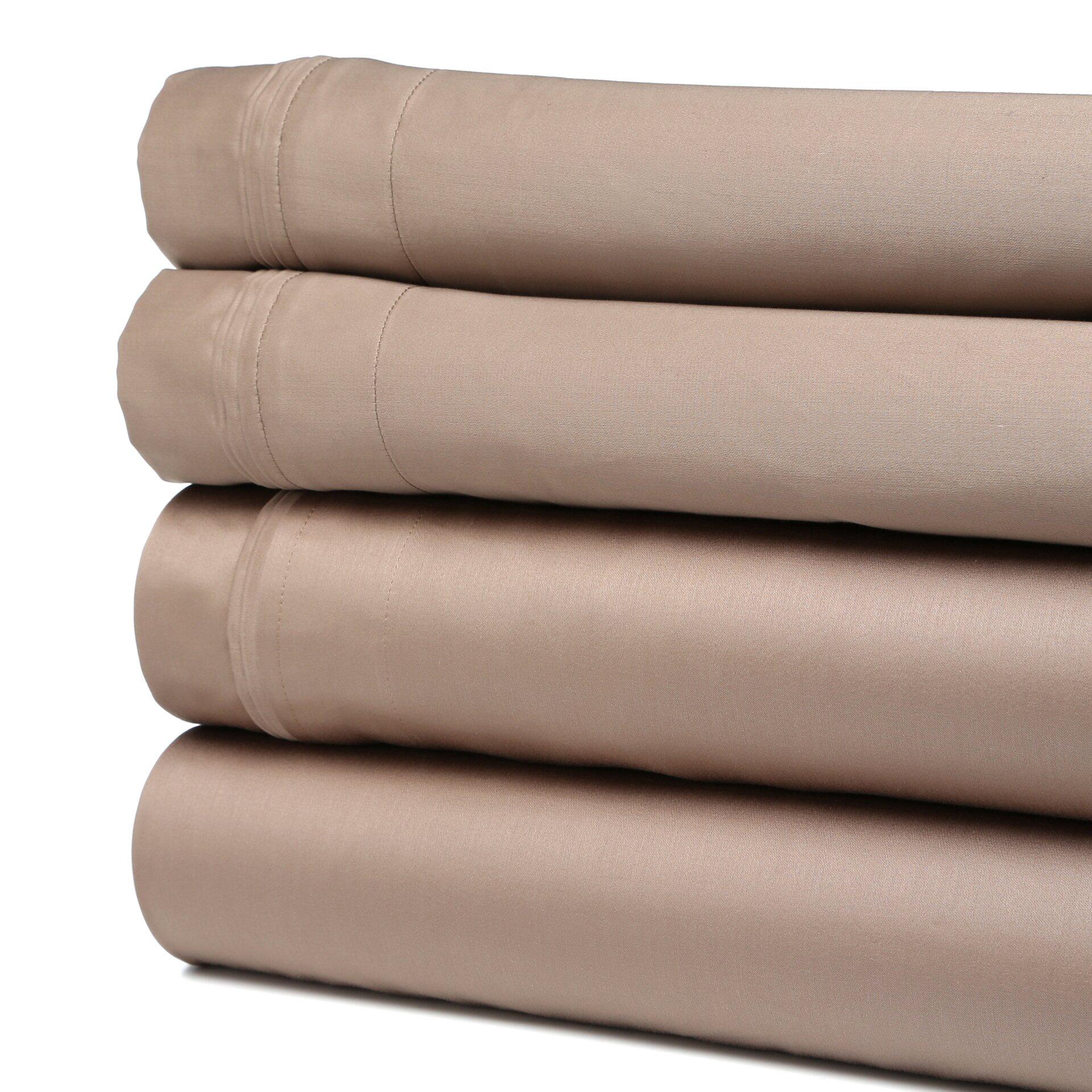 1500 thread count premium long staple combed cotton solid sheet set wayfair. Black Bedroom Furniture Sets. Home Design Ideas
