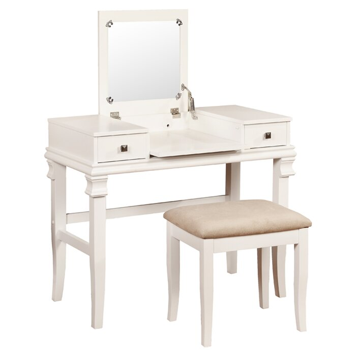 Linon Jackson Vanity Set With Mirror Reviews: Linon Angela Vanity Set With Mirror & Reviews
