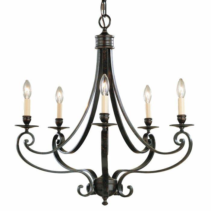 Murray Feiss Foyer Lighting: Cervantes 5 Light Chandelier