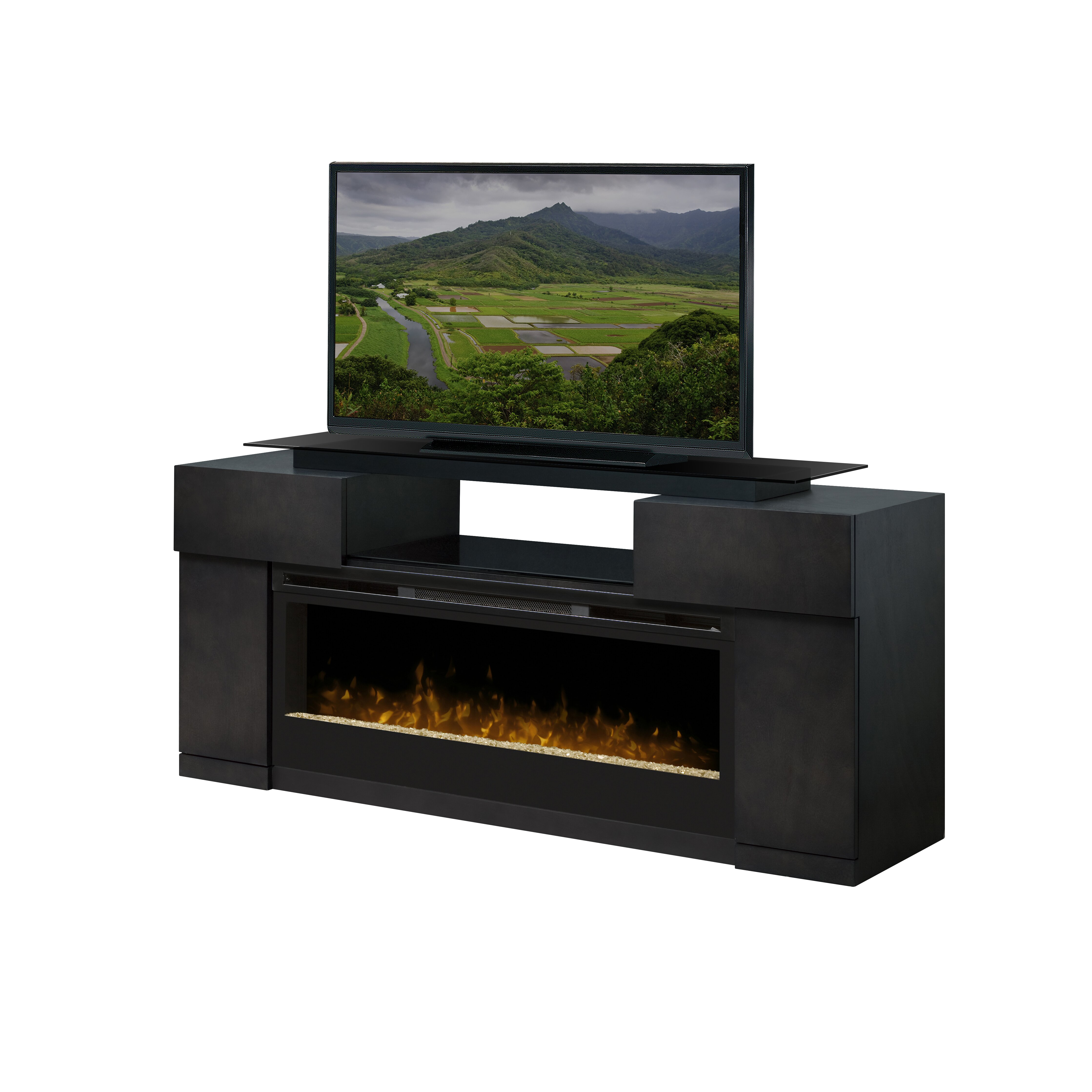 dimplex concord tv stand with electric fireplace reviews