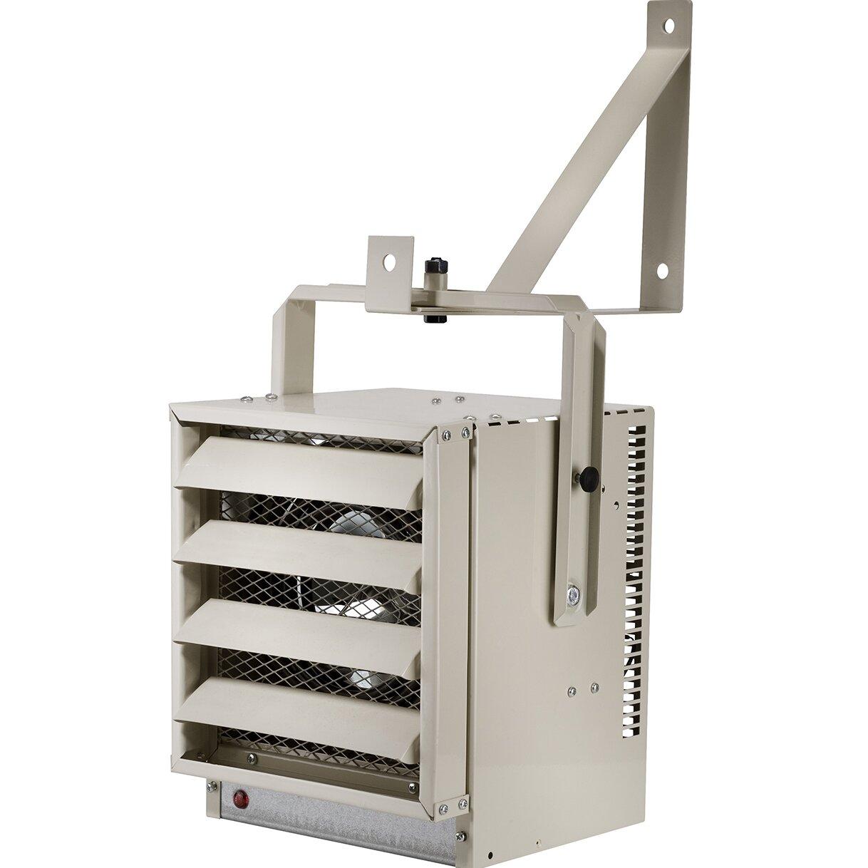 17 060 Btu Wall Mounted Electric Fan Compact Heater Wayfair