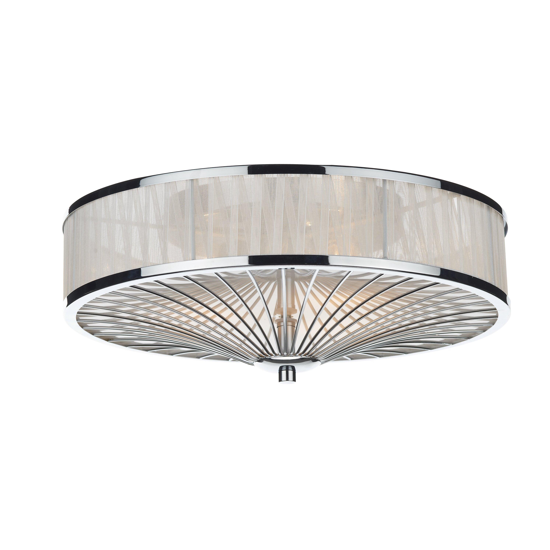 Oslo 3 Light Flush Ceiling Light | Wayfair UK
