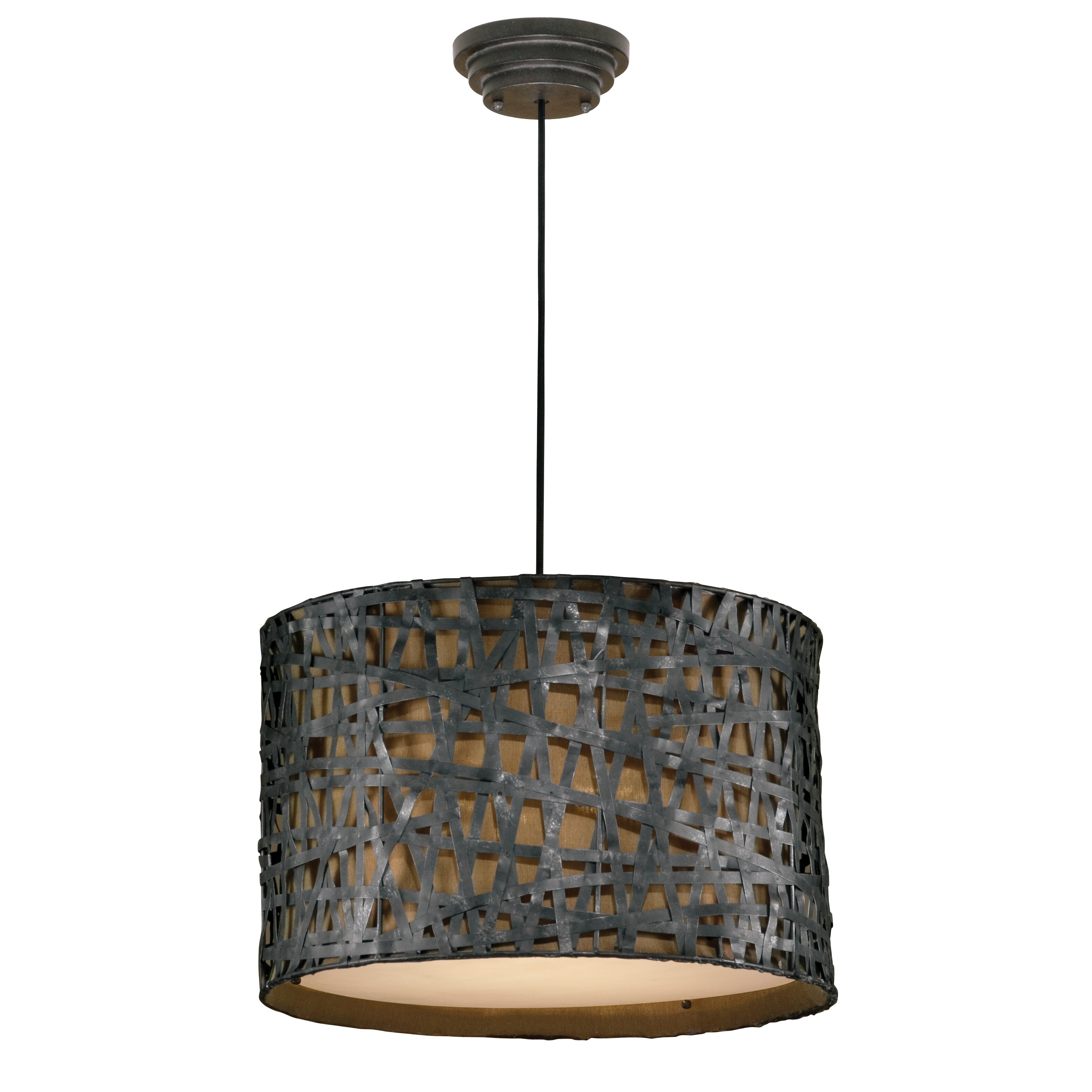 Foyer Drum Lighting : Uttermost alita light drum foyer pendant reviews wayfair