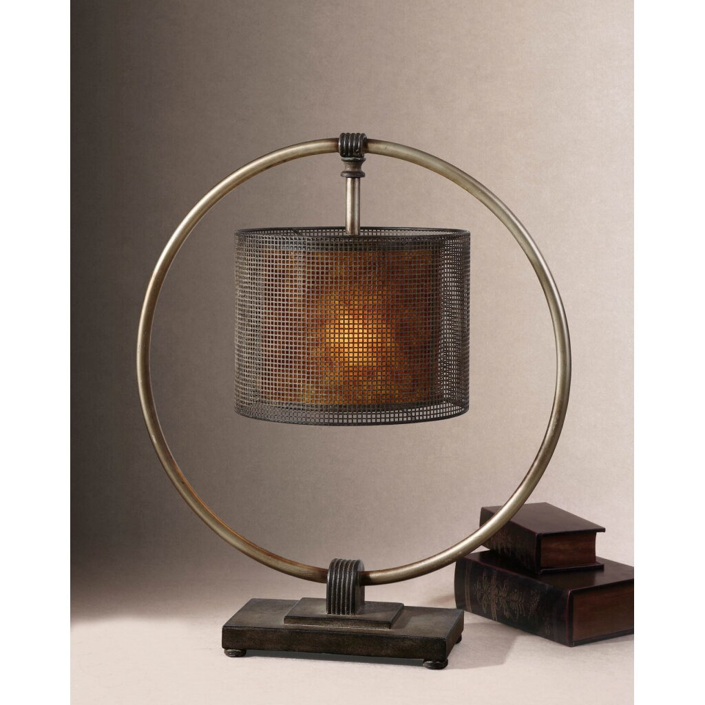 dalou 28 h table lamp with drum shade wayfair. Black Bedroom Furniture Sets. Home Design Ideas