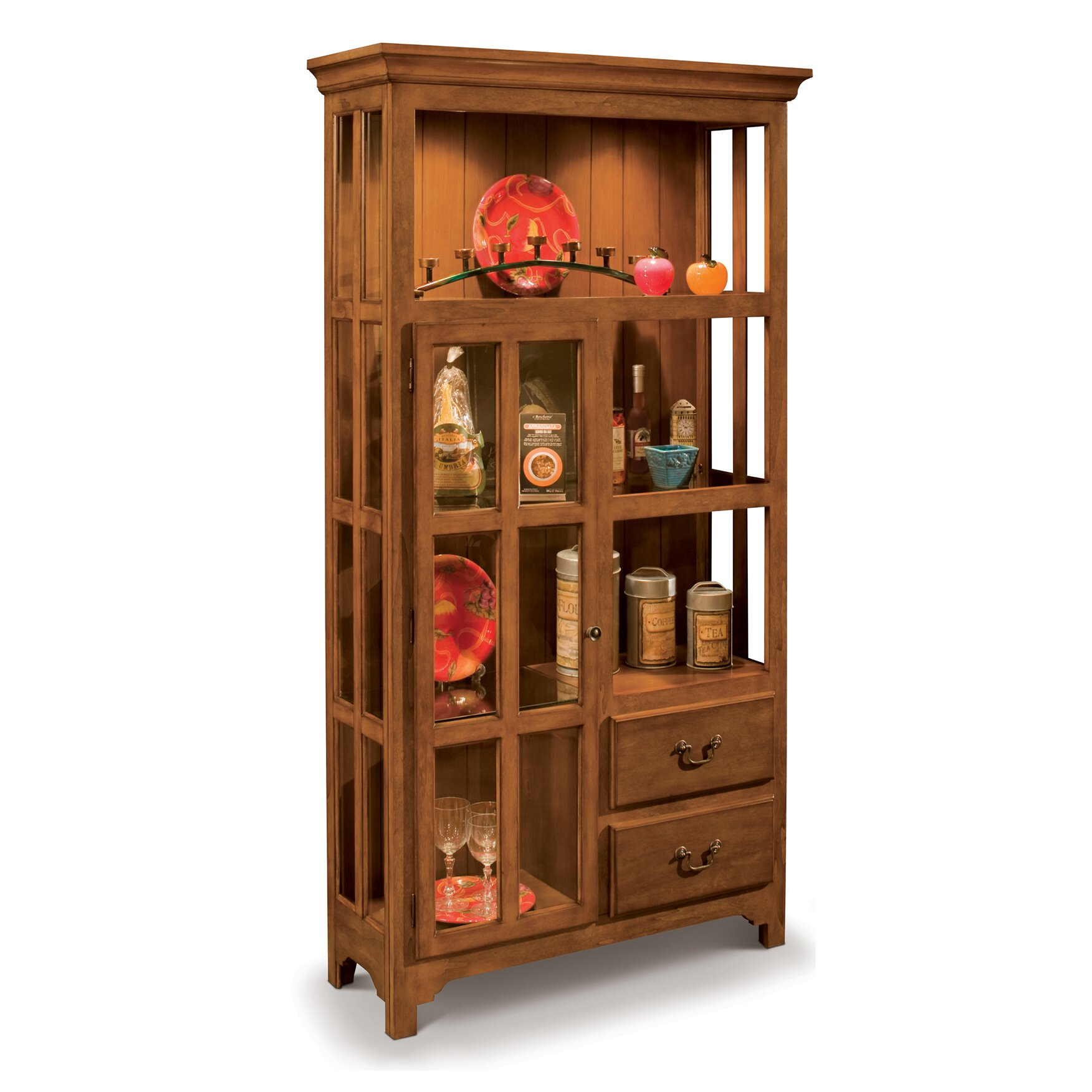 Philip Reinisch Co Colortime Solid Wood Curio Display