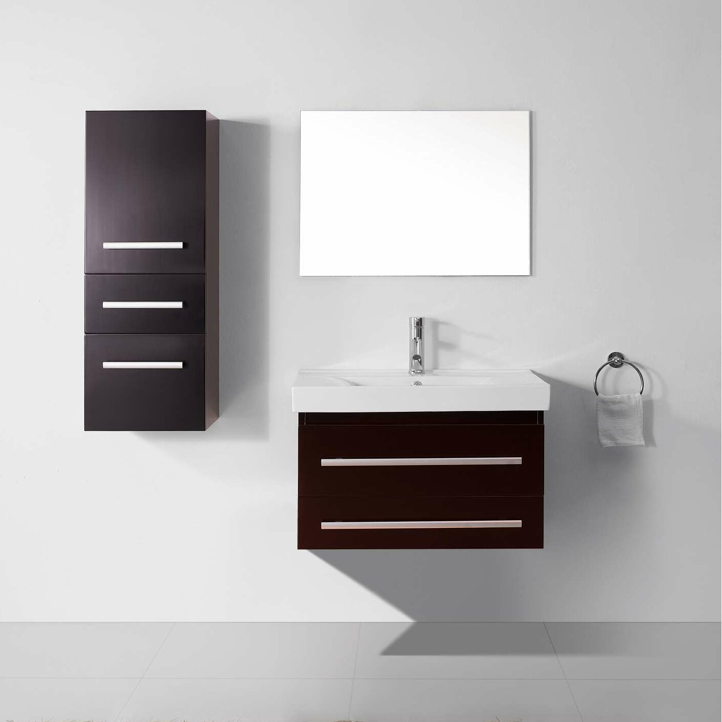 Cool Ultra Modern Series 59quot Double Bathroom Vanity Set With Mirror By