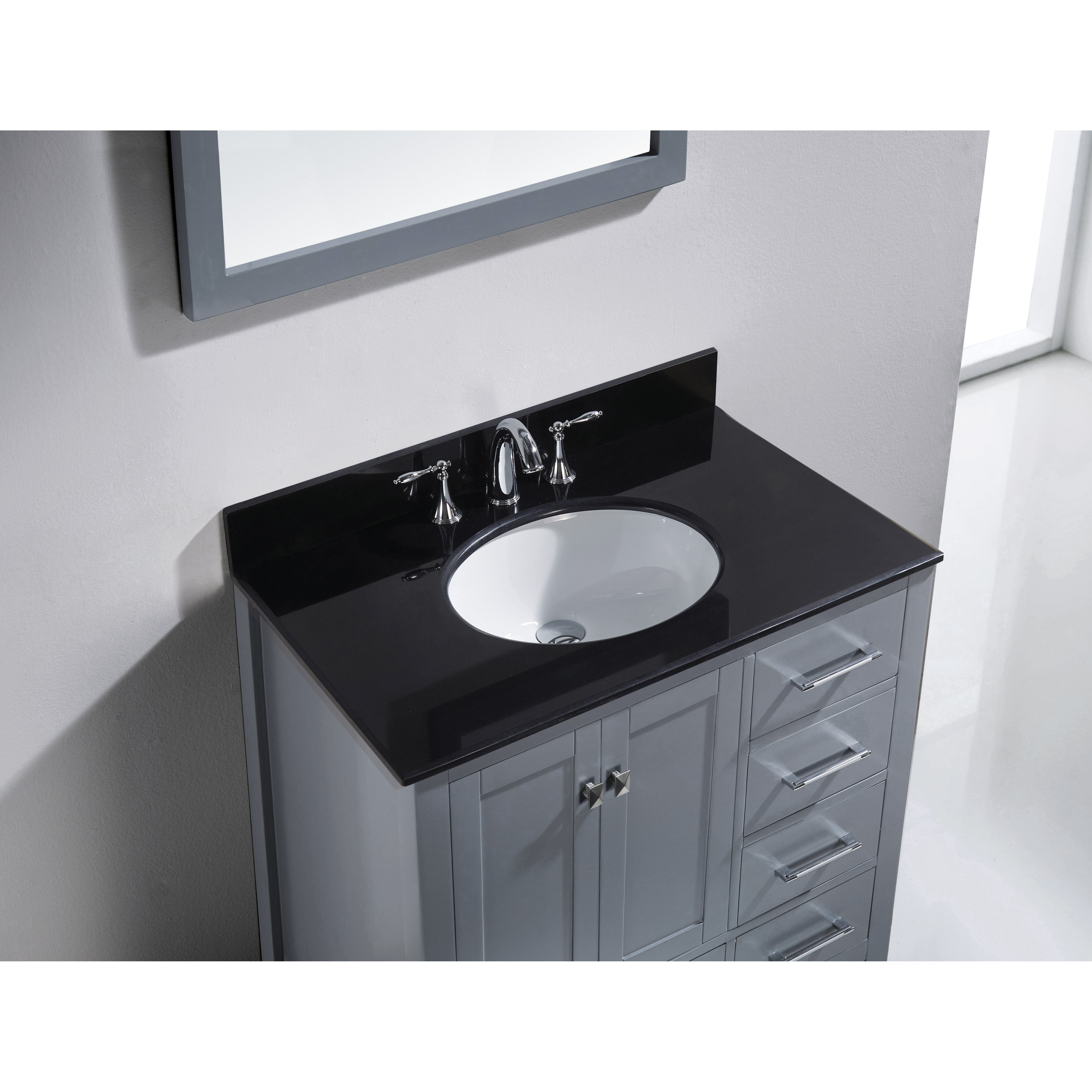 caroline county black singles Virtu usa caroline avenue 36 single square or round sink bathroom vanity set with italian carrara white marble or black galaxy granite top (view all from virtu usa.