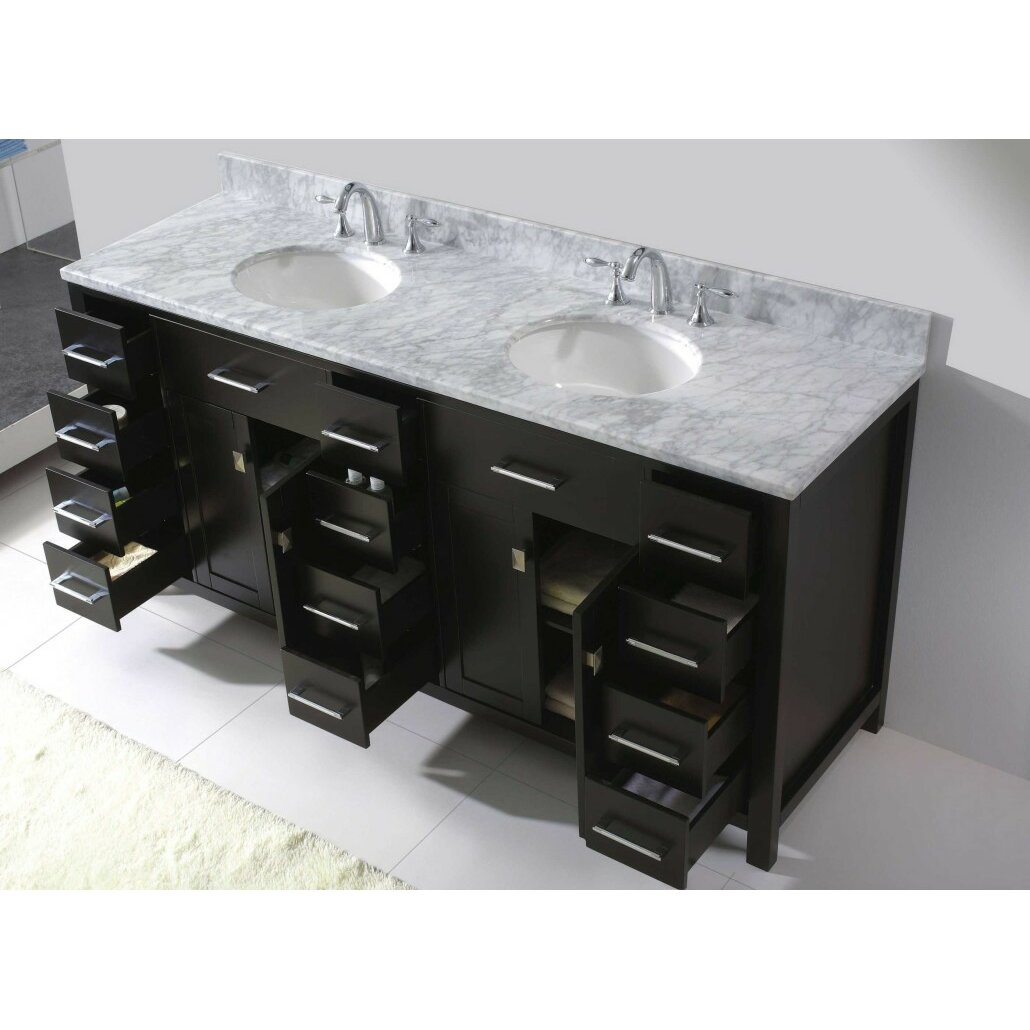 caroline parkway 72 bathroom vanity cabinet wayfair. Black Bedroom Furniture Sets. Home Design Ideas