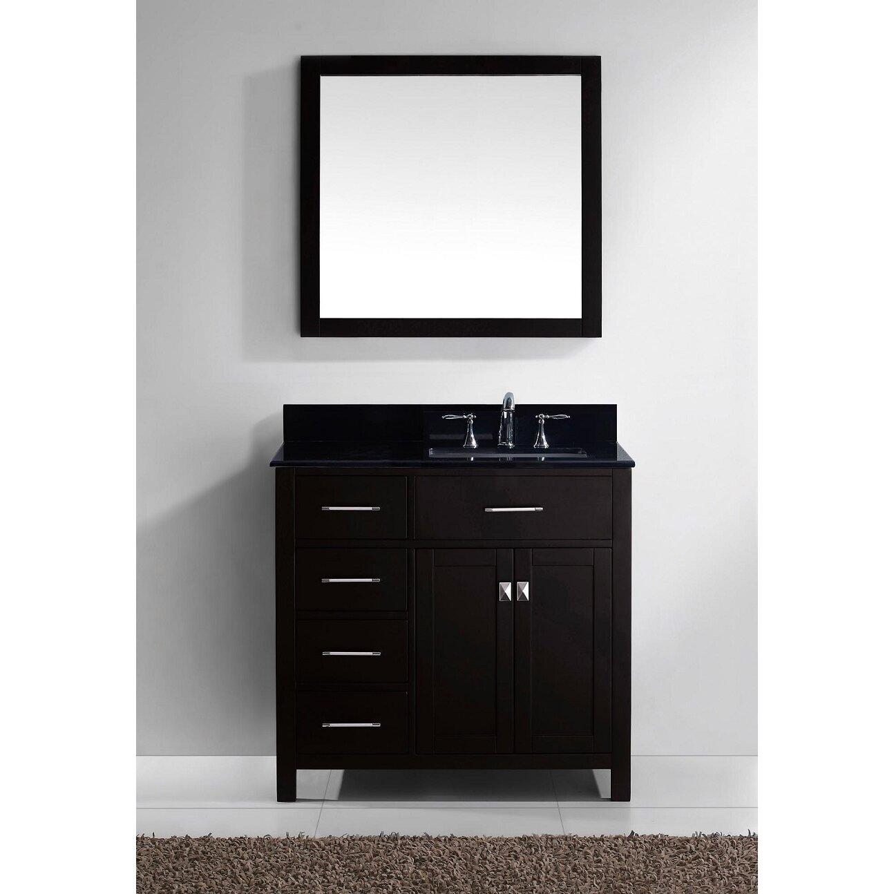 """Black Bathroom Vanity Set: Caroline Parkway 35"""" Single Bathroom Vanity Set With Black"""