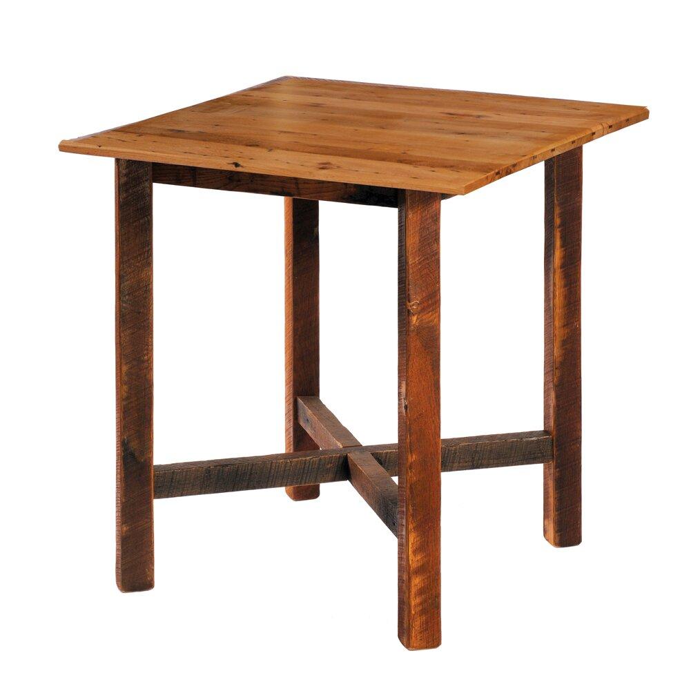 Reclaimed barnwood dining table wayfairca for Barnwood dining tables