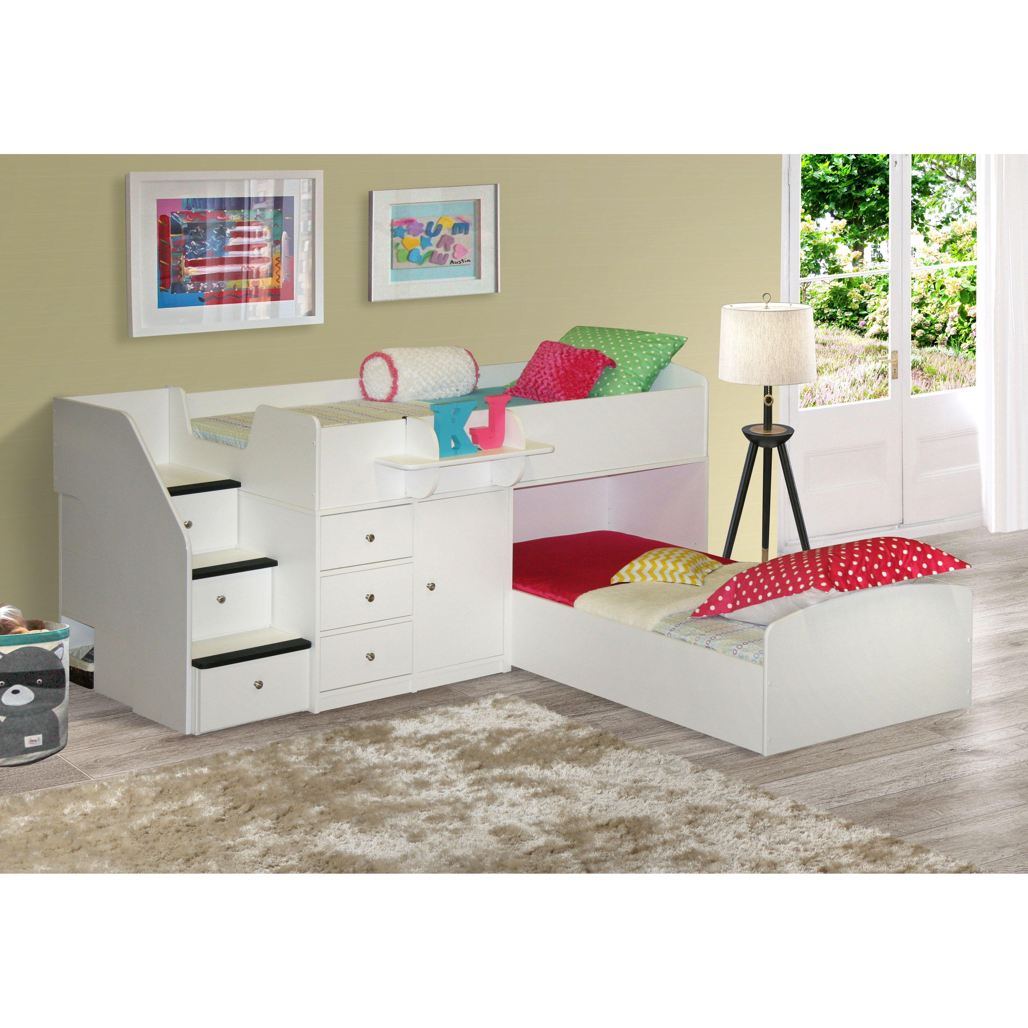 Low L Shaped Bunk Beds Uk