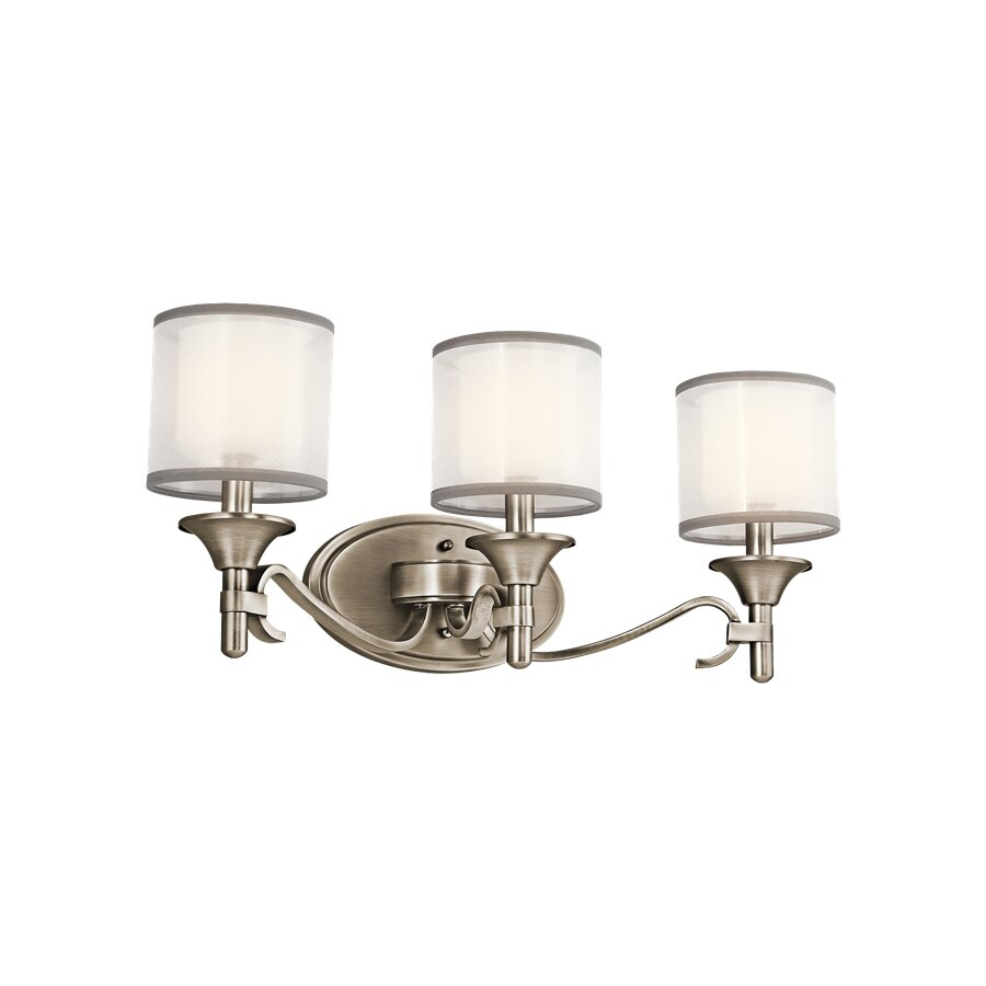 Three Light Bathroom Vanity Light: Lacey 3 Light Bath Vanity Light