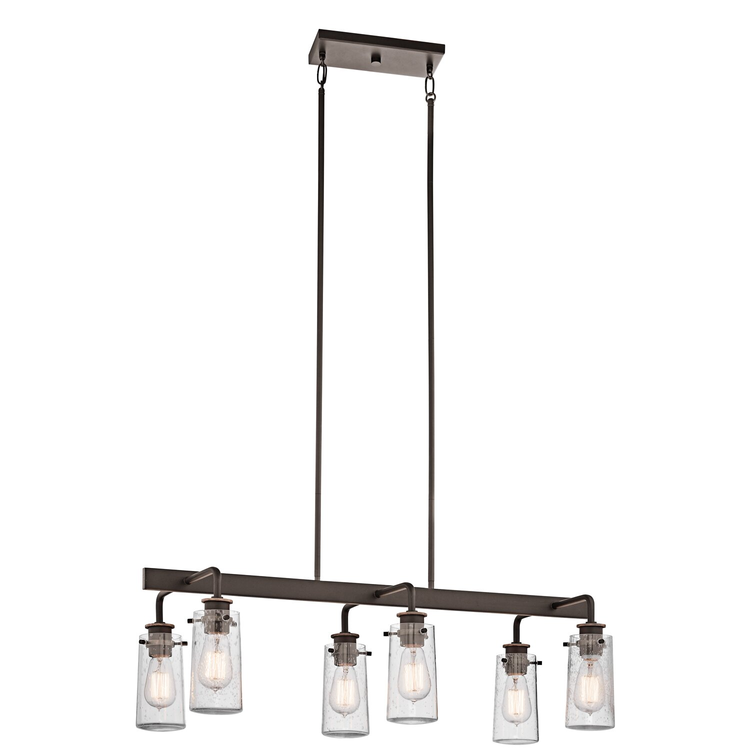 kichler braelyn 6 light linear chandelier reviews wayfair