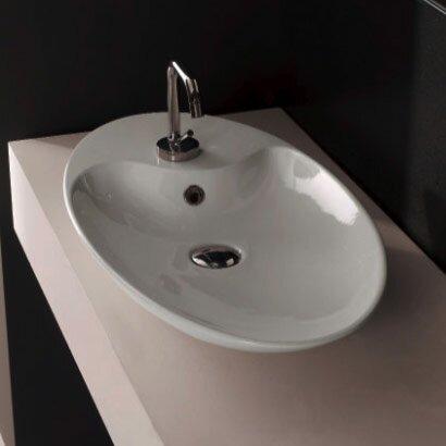 scarabeo by nameeks shape oval 1 hole vessel bathroom sink reviews wayfair. Black Bedroom Furniture Sets. Home Design Ideas