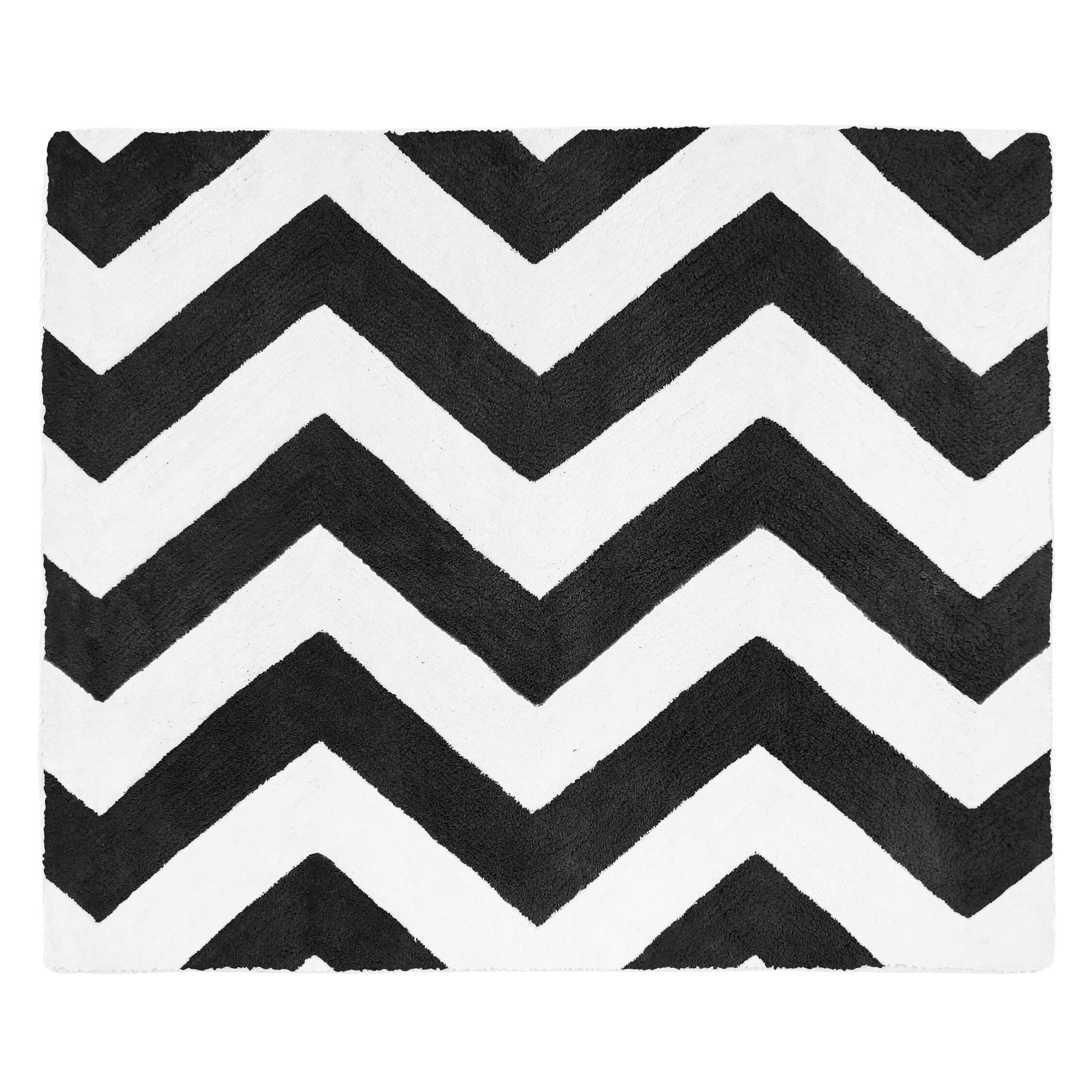 Chevron Kitchen Rug: Chevron Black And White Rug