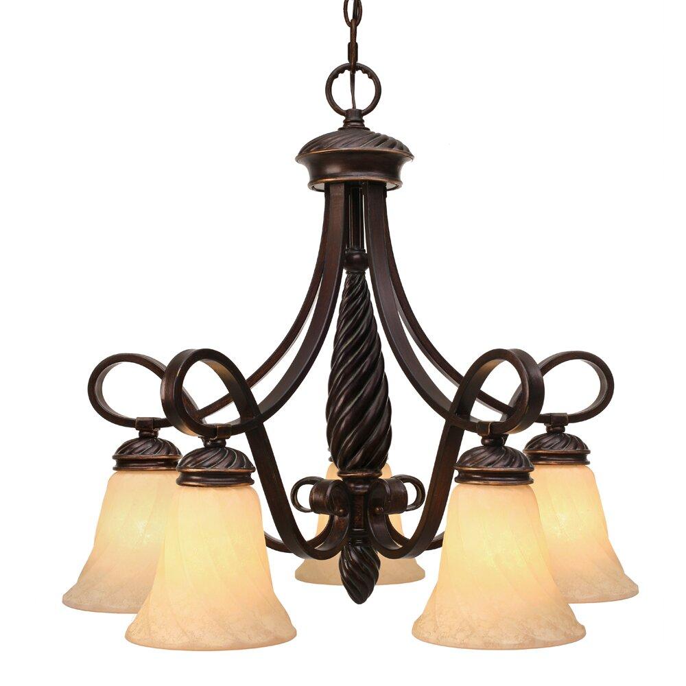 Golden Lighting Torbellino 5 Light Nook Chandelier