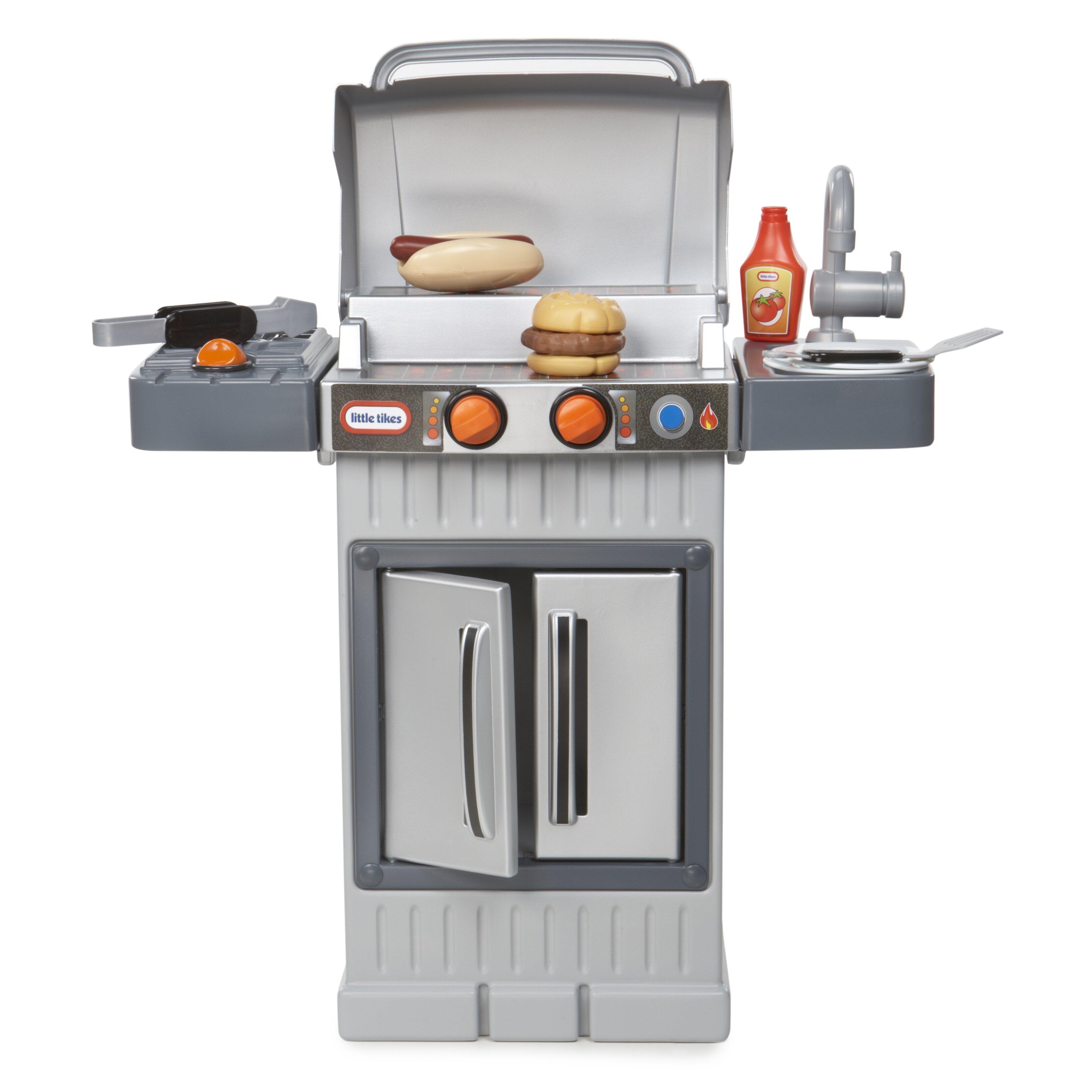 little tikes cook 39 n grow bbq grill kitchen set reviews wayfair