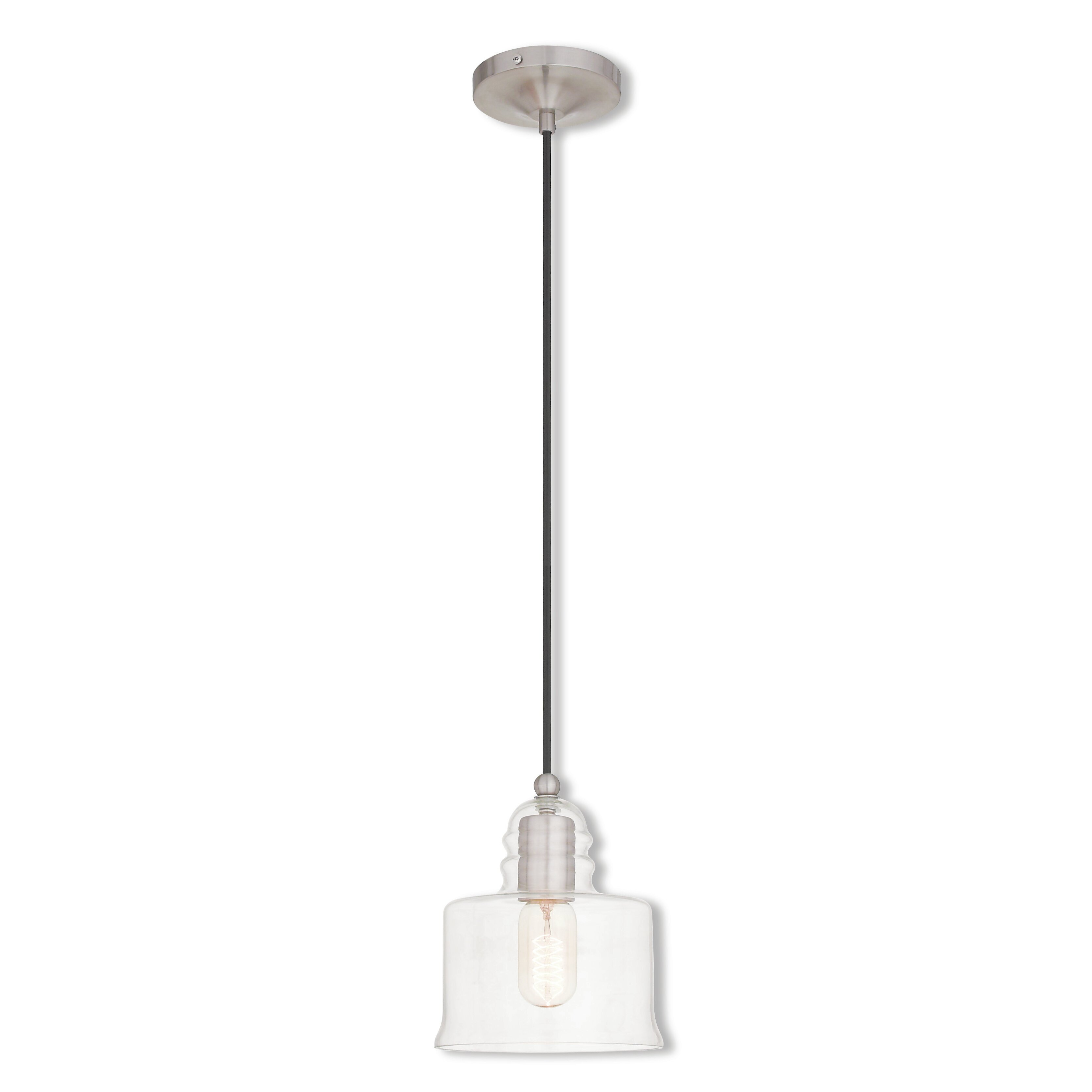 Art glass 1 light mini pendant by livex lighting