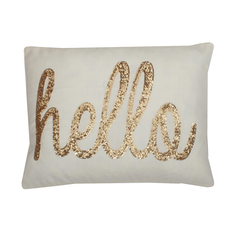Hello Sequin Script Lumbar Pillow Wayfair